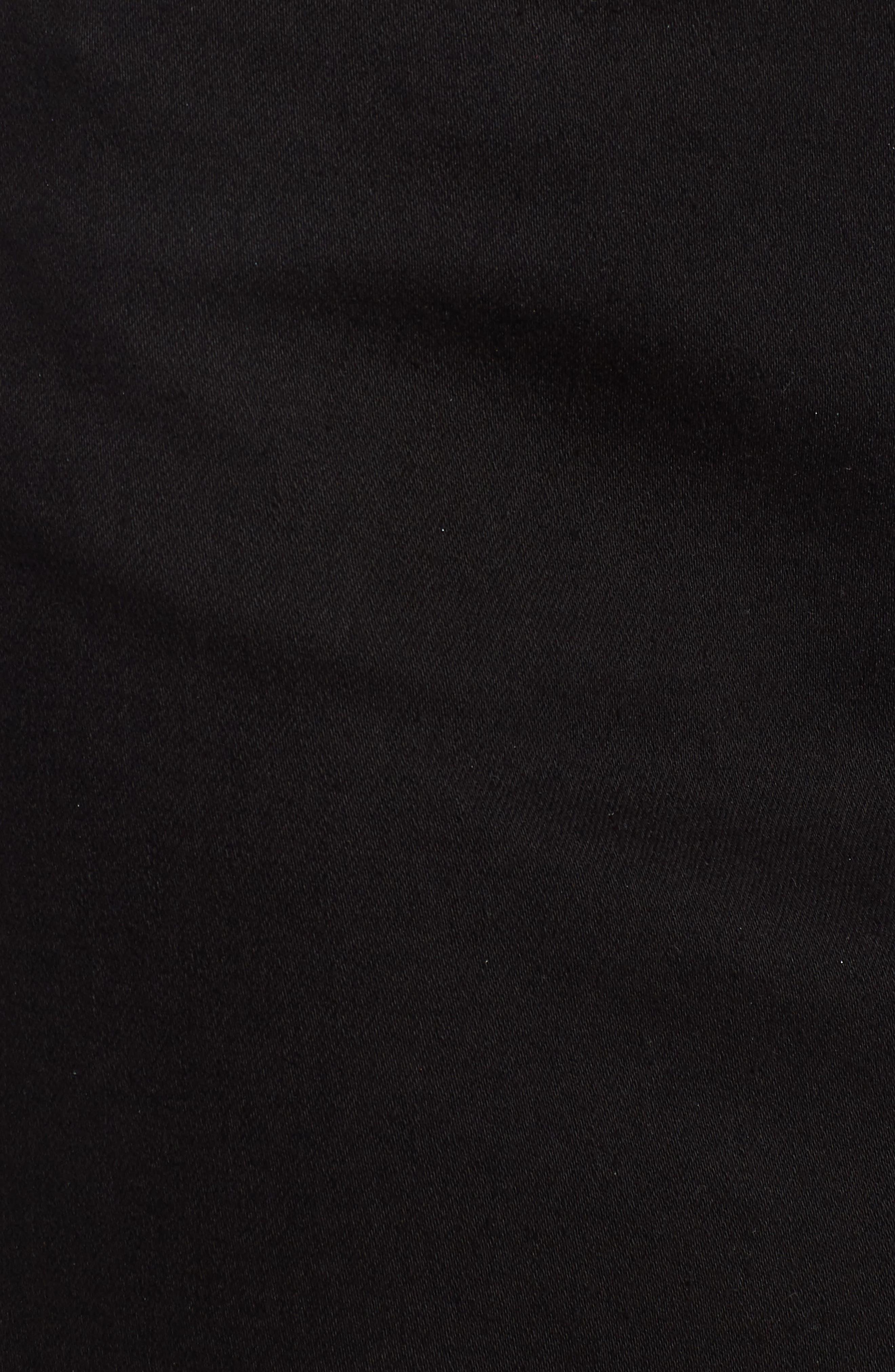 The Super Star Asymmetrical Miniskirt,                             Alternate thumbnail 3, color,                             Black Denim