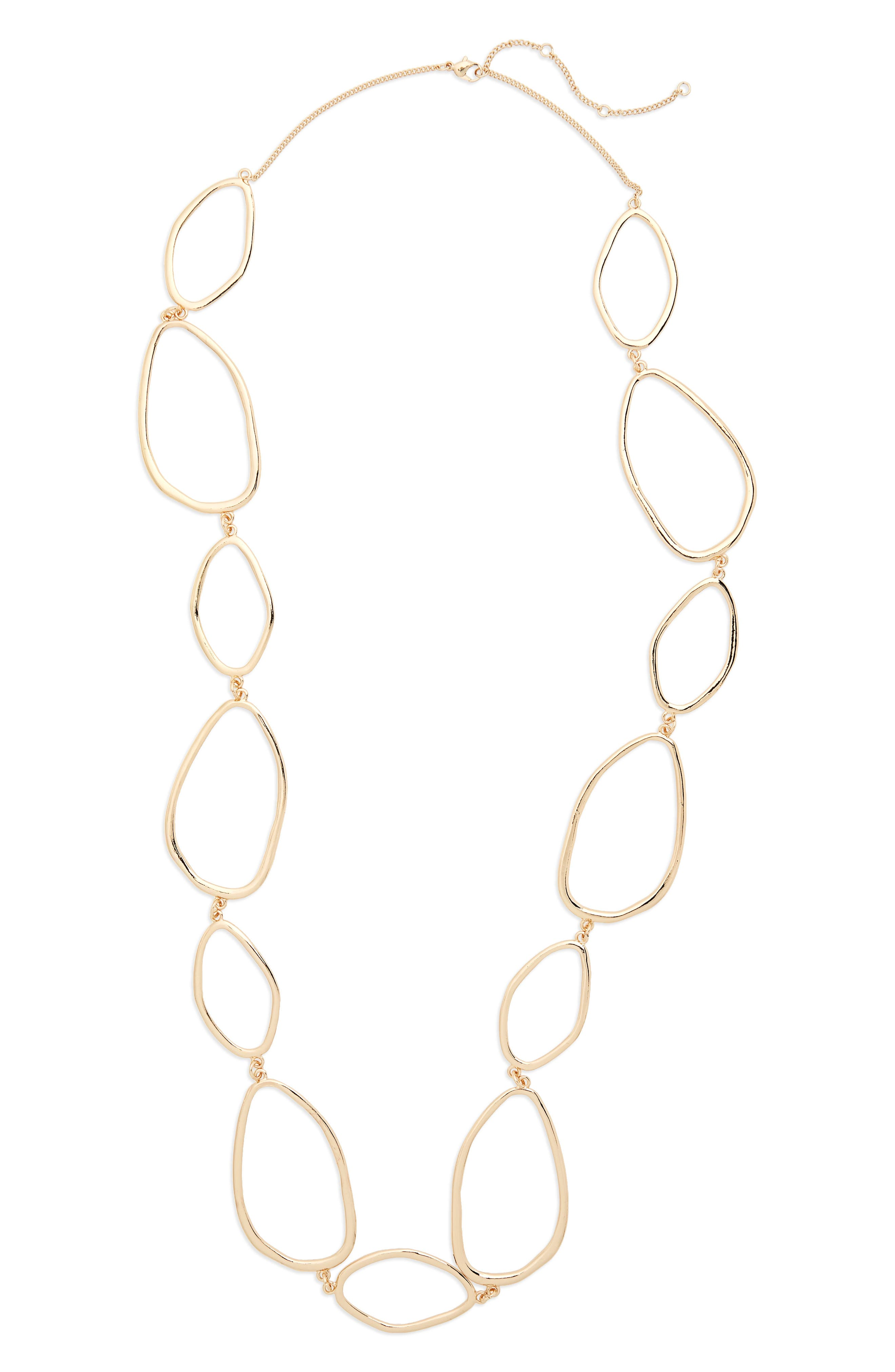 Organic Link Necklace,                         Main,                         color, Gold