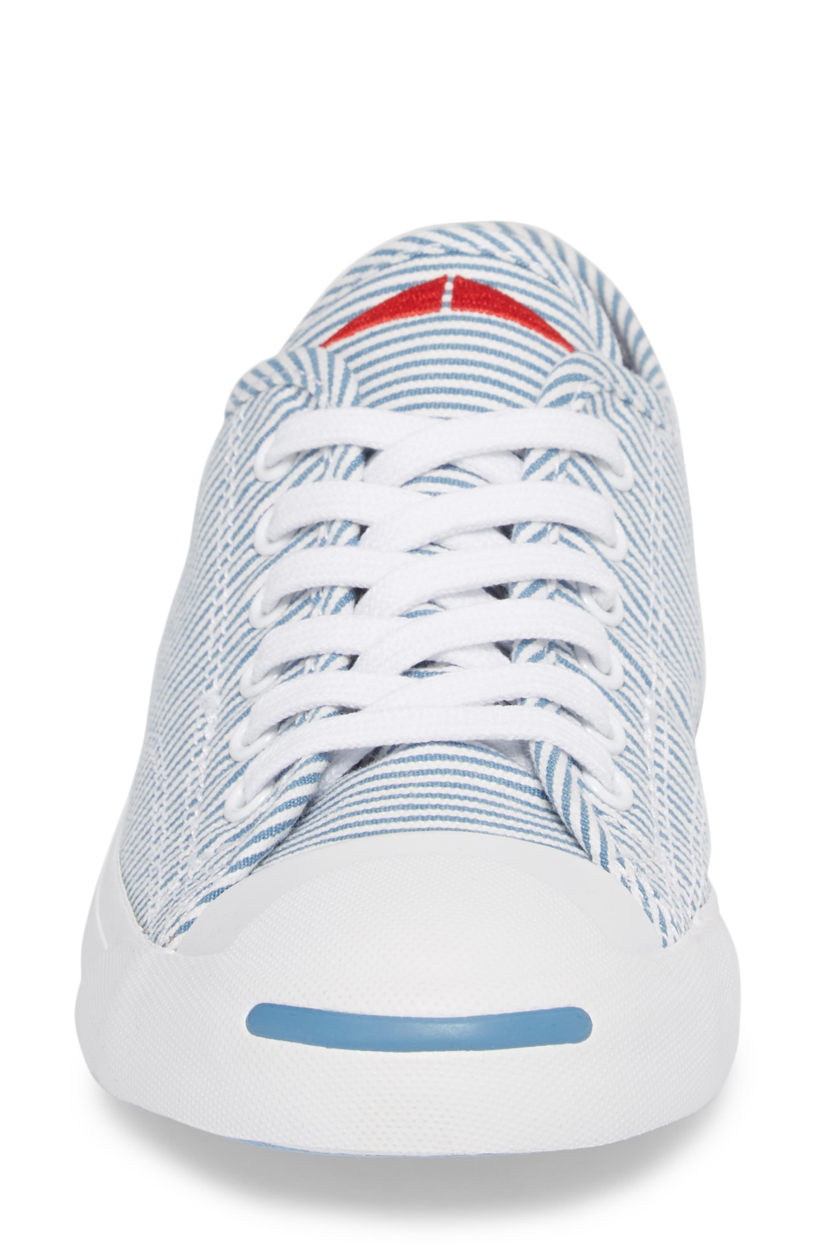 Jack Purcell Low Top Sneaker,                             Alternate thumbnail 4, color,                             Aegean Storm