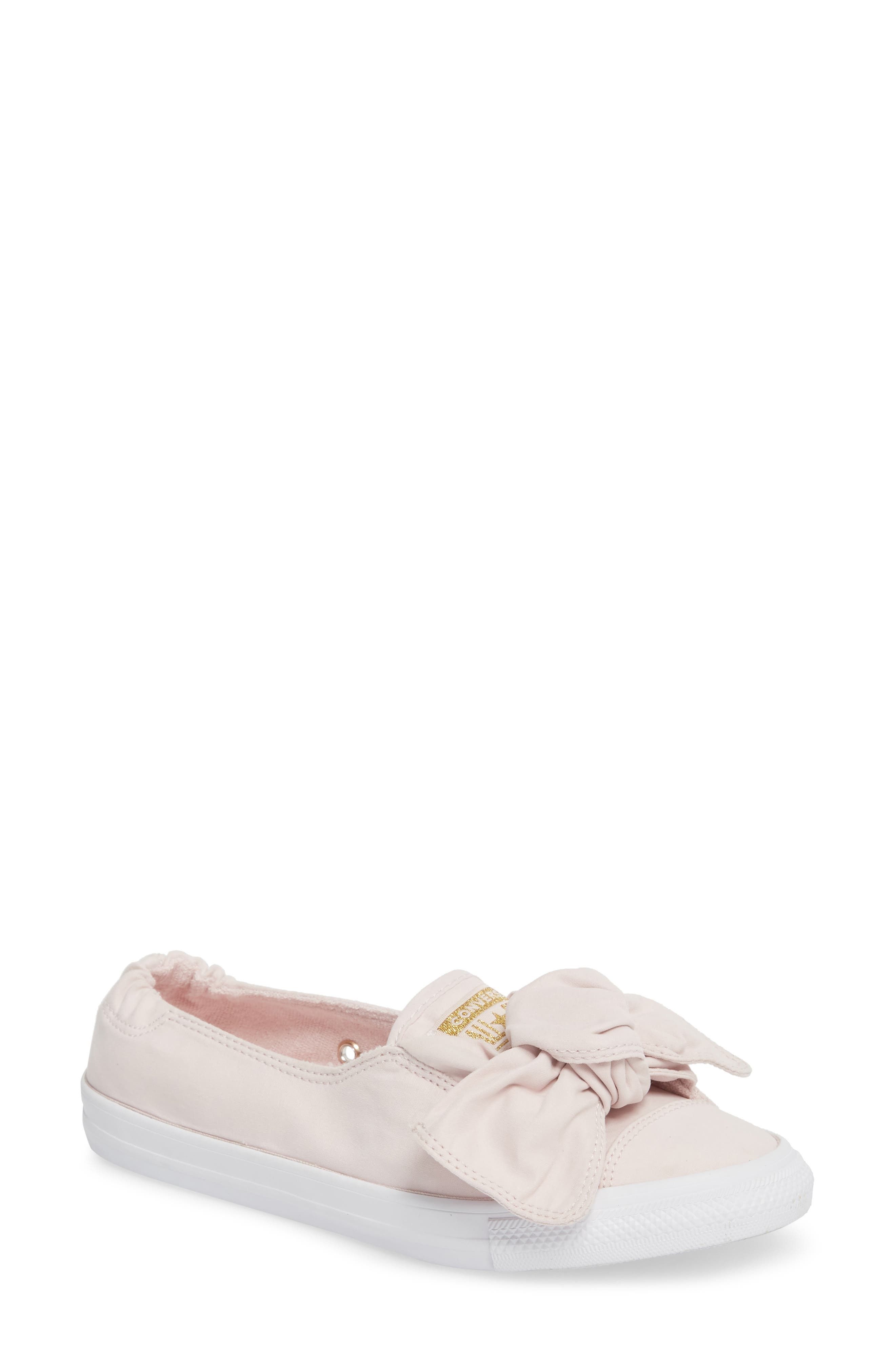Chuck Taylor <sup>®</sup> All Star<sup>®</sup> Knot Slip-On Sneaker,                             Main thumbnail 1, color,                             Barely Rose