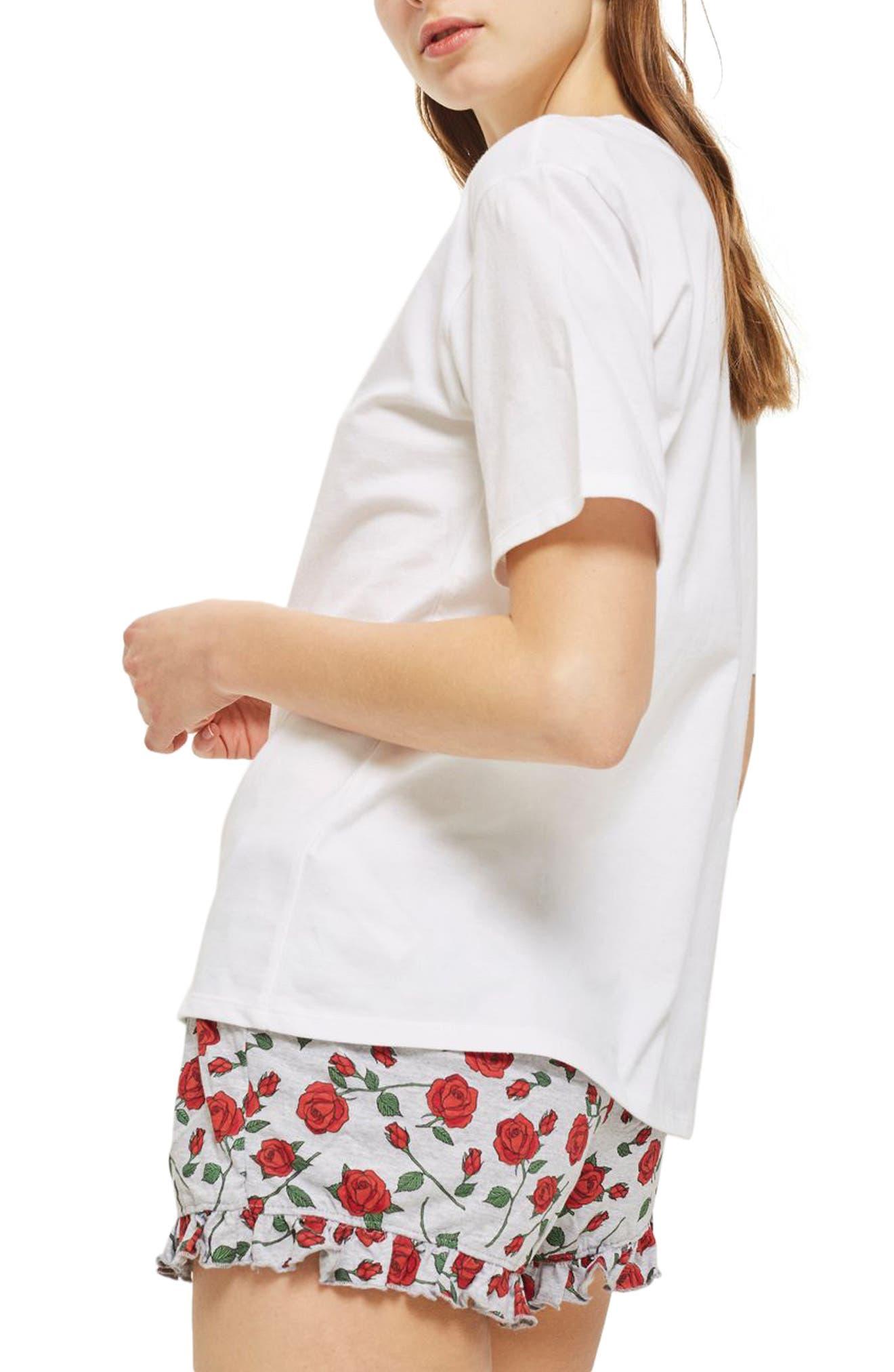 Disney<sup>®</sup> Belle Rose Short Pajamas,                             Alternate thumbnail 2, color,                             White Multi