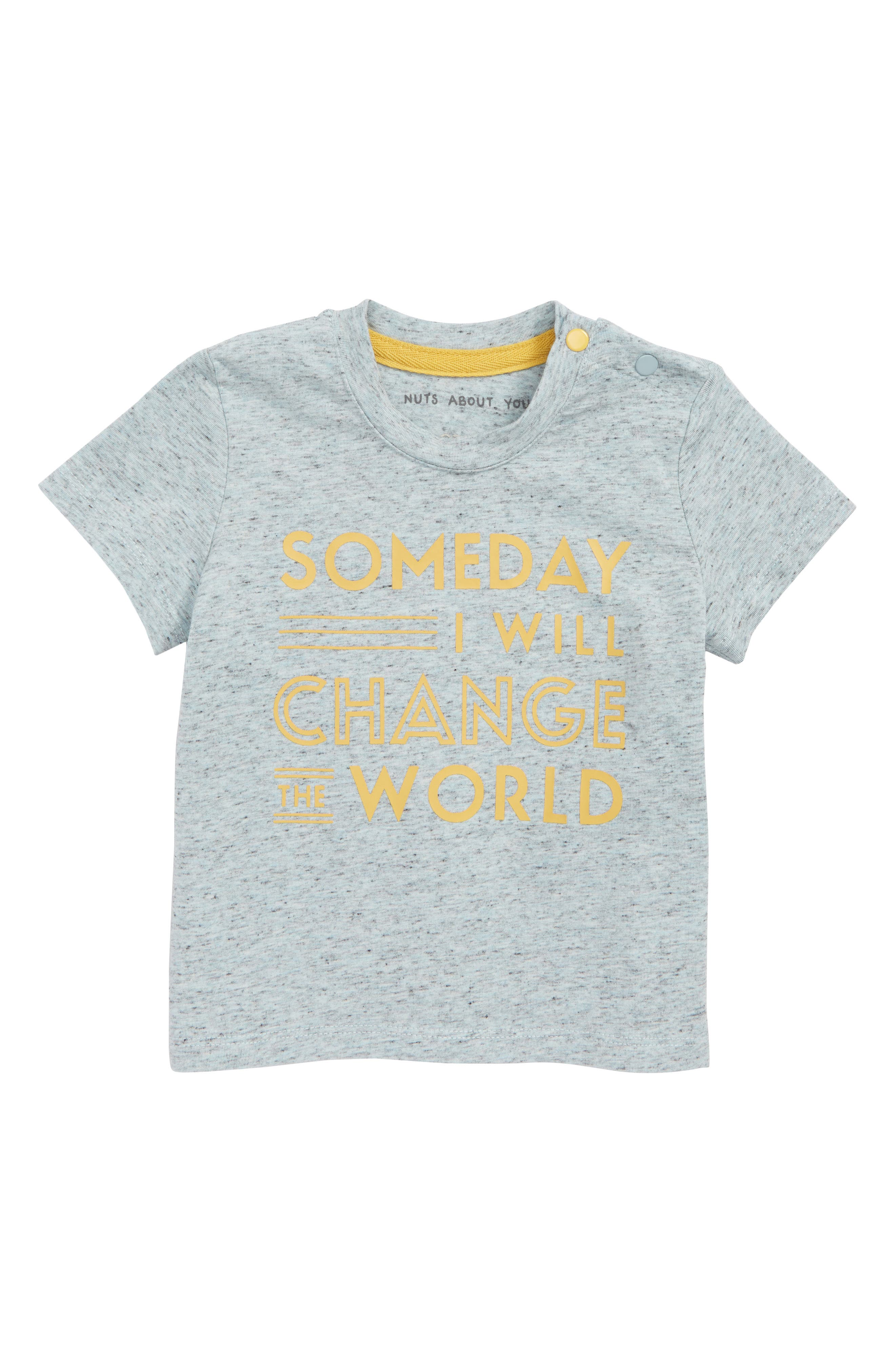 Someday I Will Change the World Tee,                         Main,                         color, Blue
