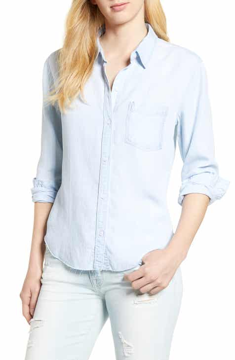 fafb4341c5577e Rails Ingrid Raw Hem Chambray Shirt