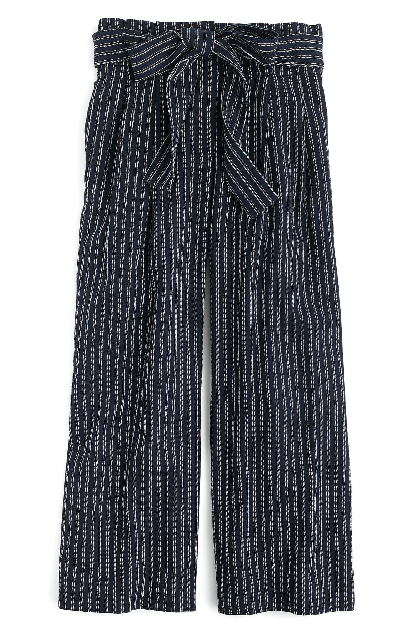 Point Sur Paperbag Pants,                             Alternate thumbnail 4, color,                             Navy White Stripe
