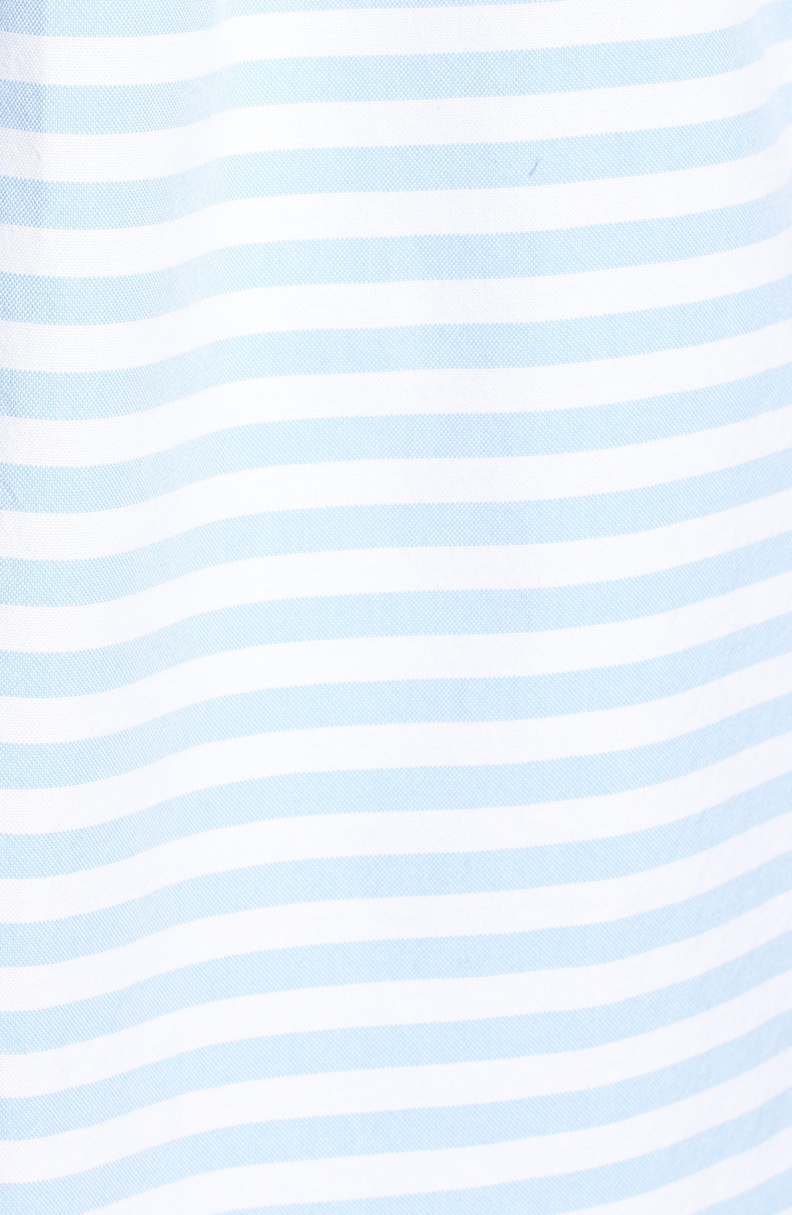 Sea Mist Stretch Short Sleeve Sport Shirt,                             Alternate thumbnail 5, color,                             Ocean Breeze