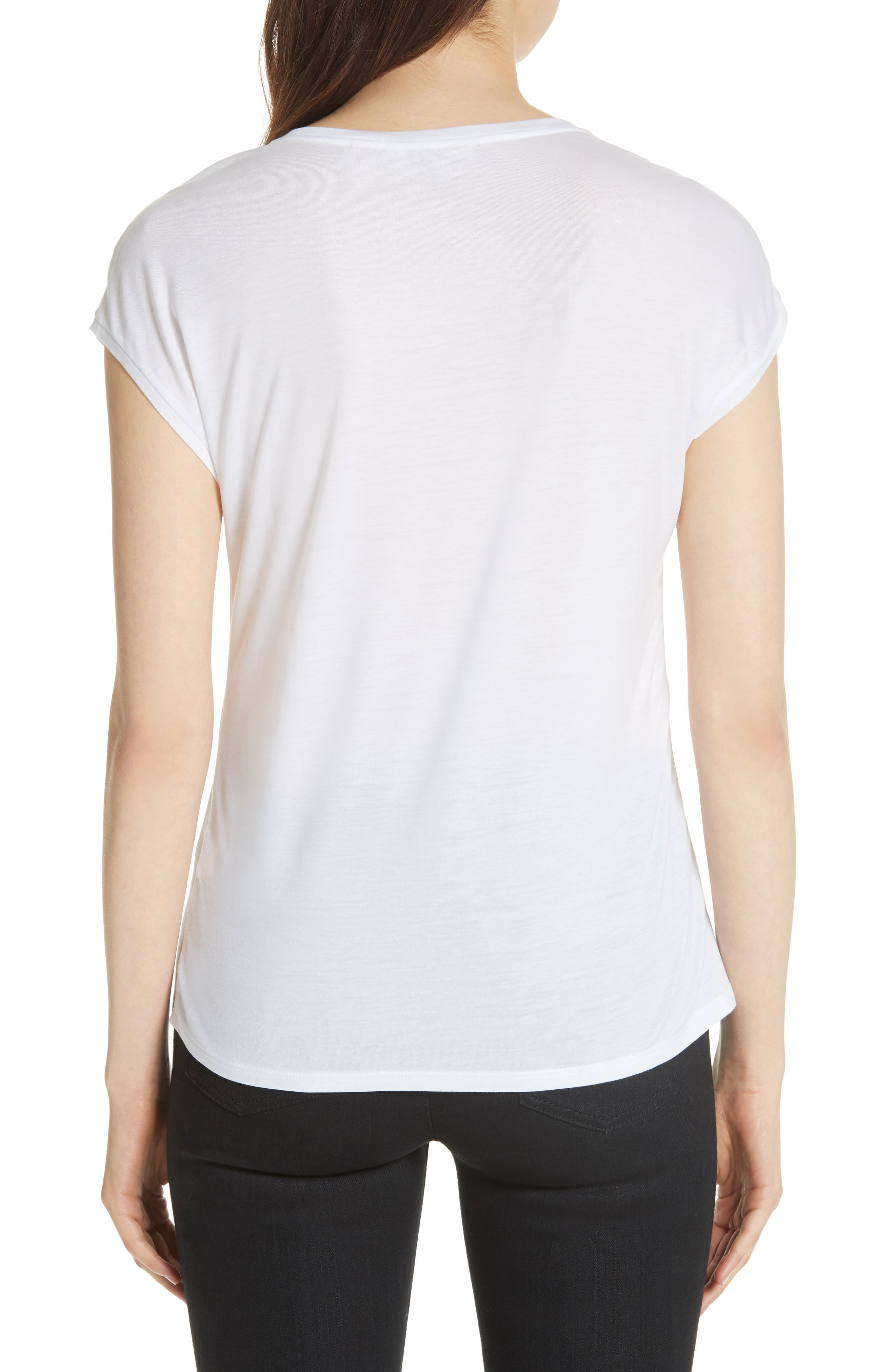 Anee Tranquility Woven Front Top,                             Alternate thumbnail 2, color,                             White