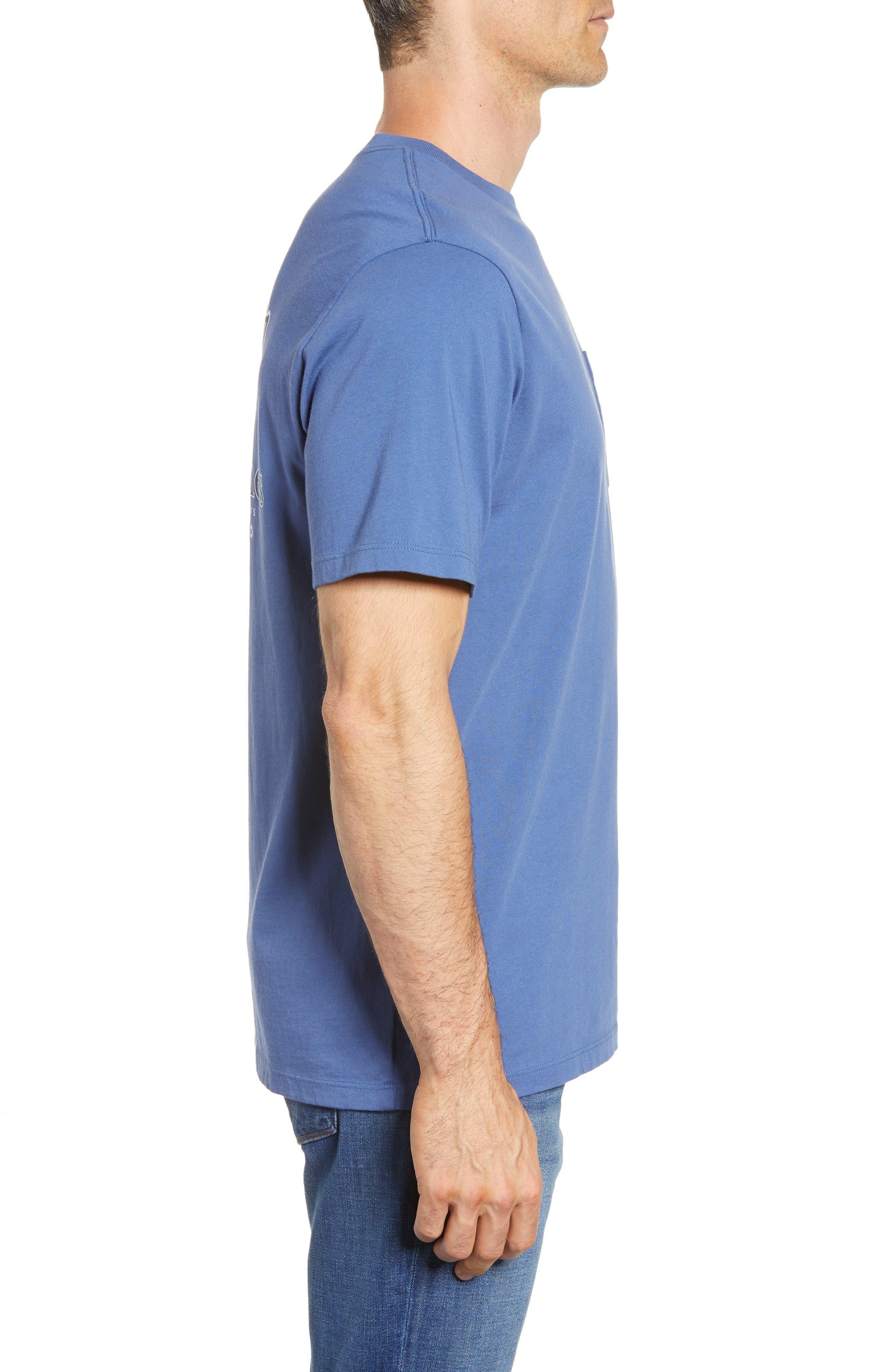 Patchwork Whale Pocket T-Shirt,                             Alternate thumbnail 3, color,                             Moonshine