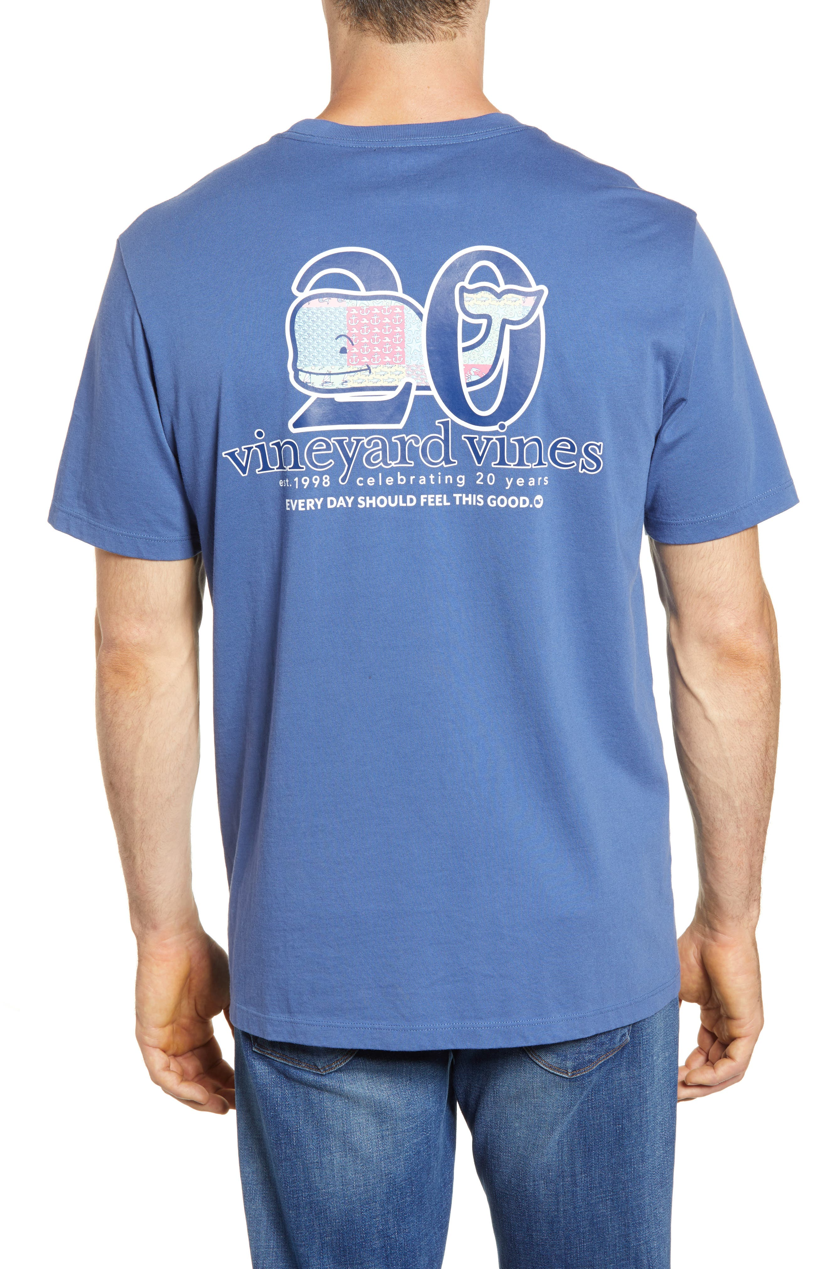 Patchwork Whale Pocket T-Shirt,                             Alternate thumbnail 2, color,                             Moonshine