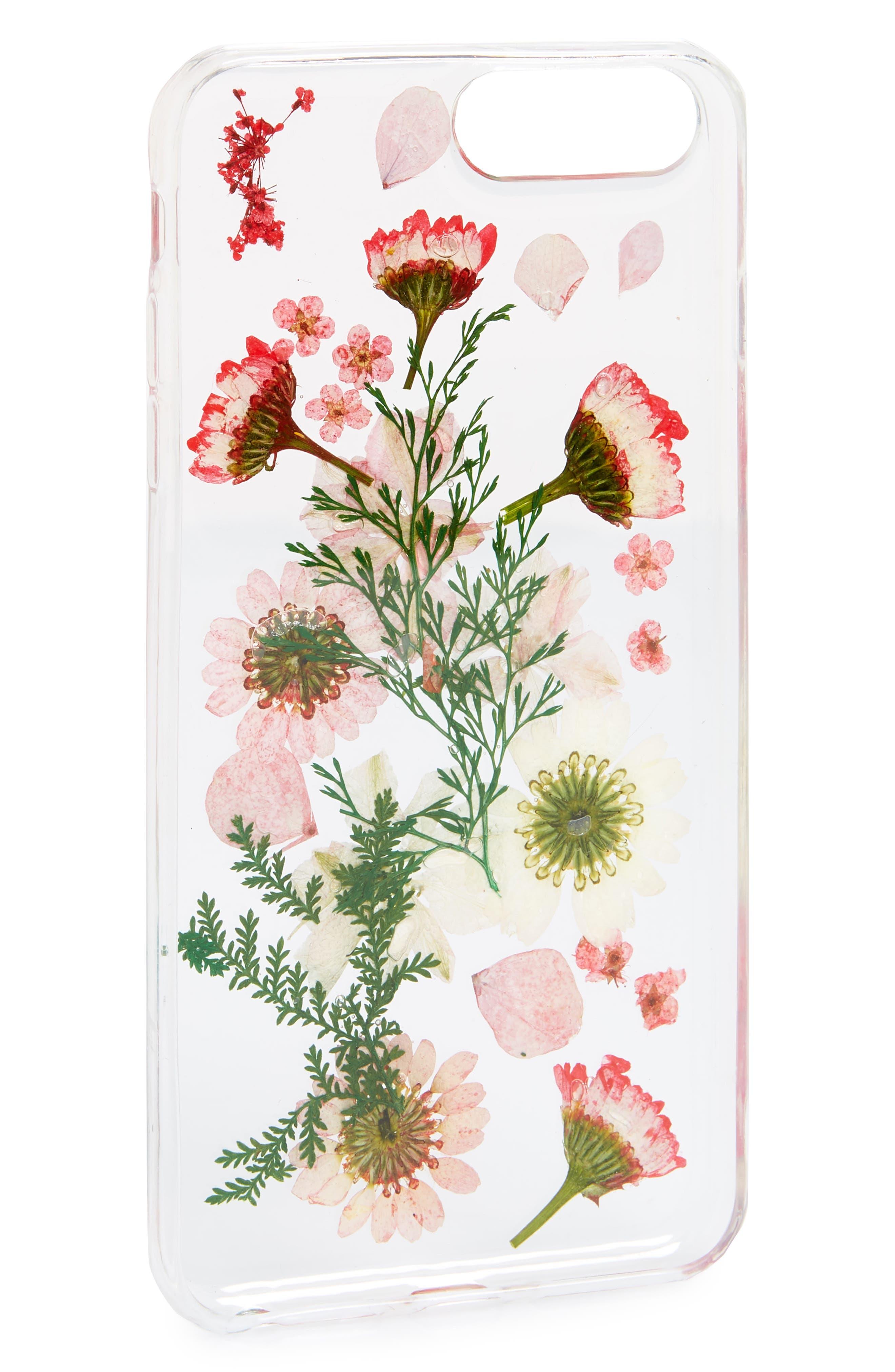 Floral iPhone  6/6s/7/8 Plus Case,                             Alternate thumbnail 2, color,                             Clear Multi