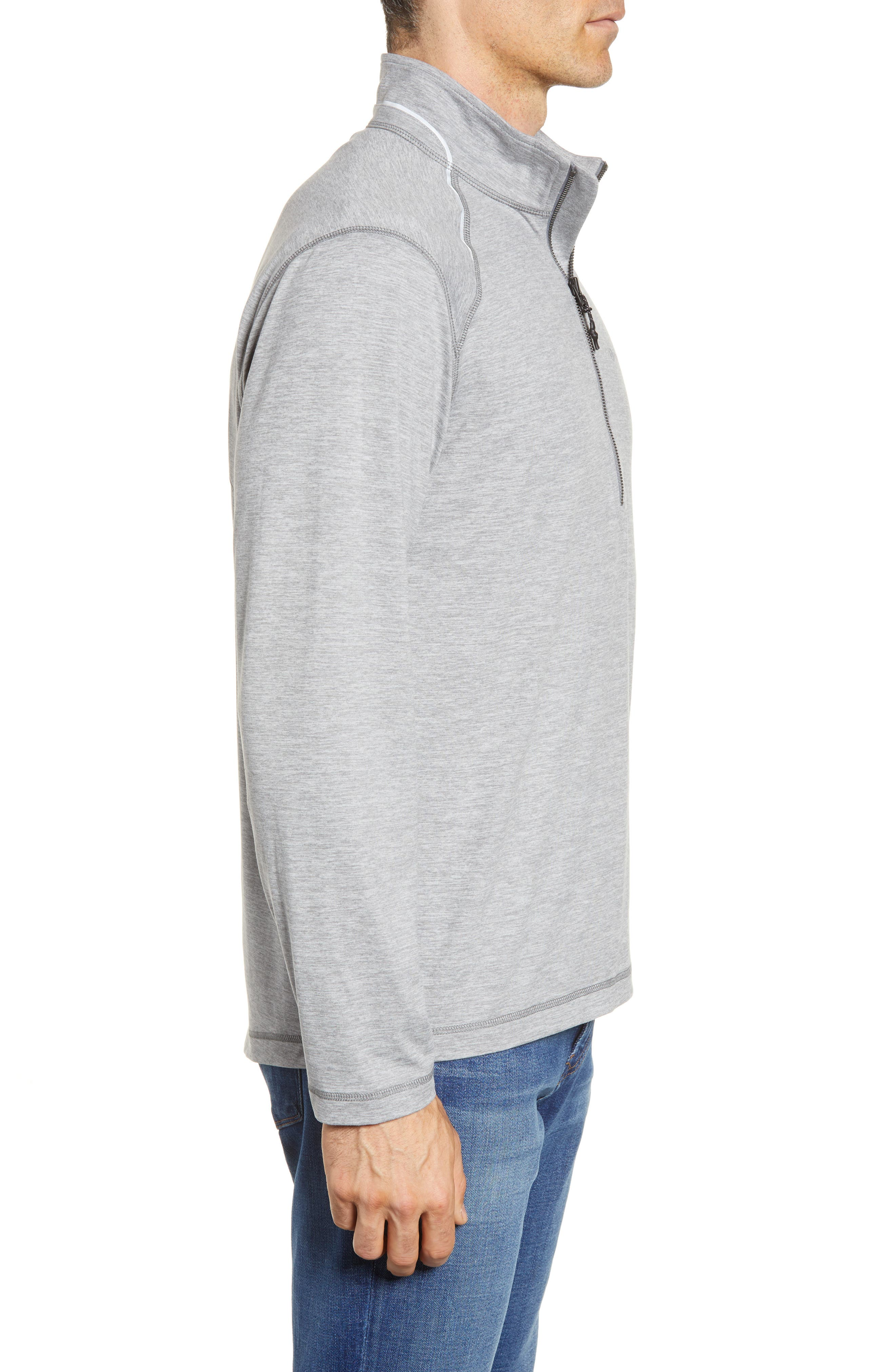 Performance Half Zip Pullover,                             Alternate thumbnail 3, color,                             Gray Heather