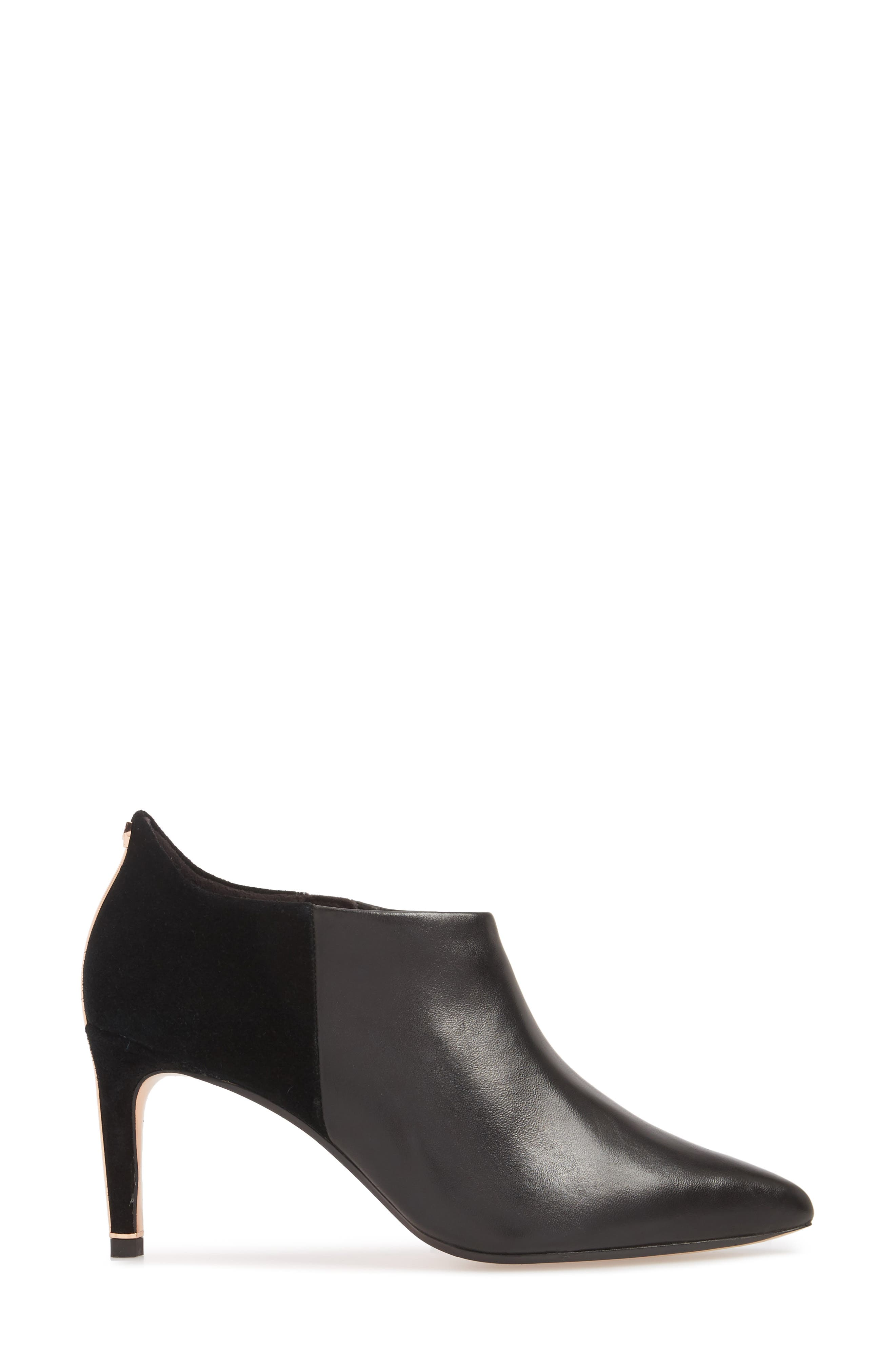 Akasha 2 Bootie,                             Alternate thumbnail 3, color,                             Black Leather