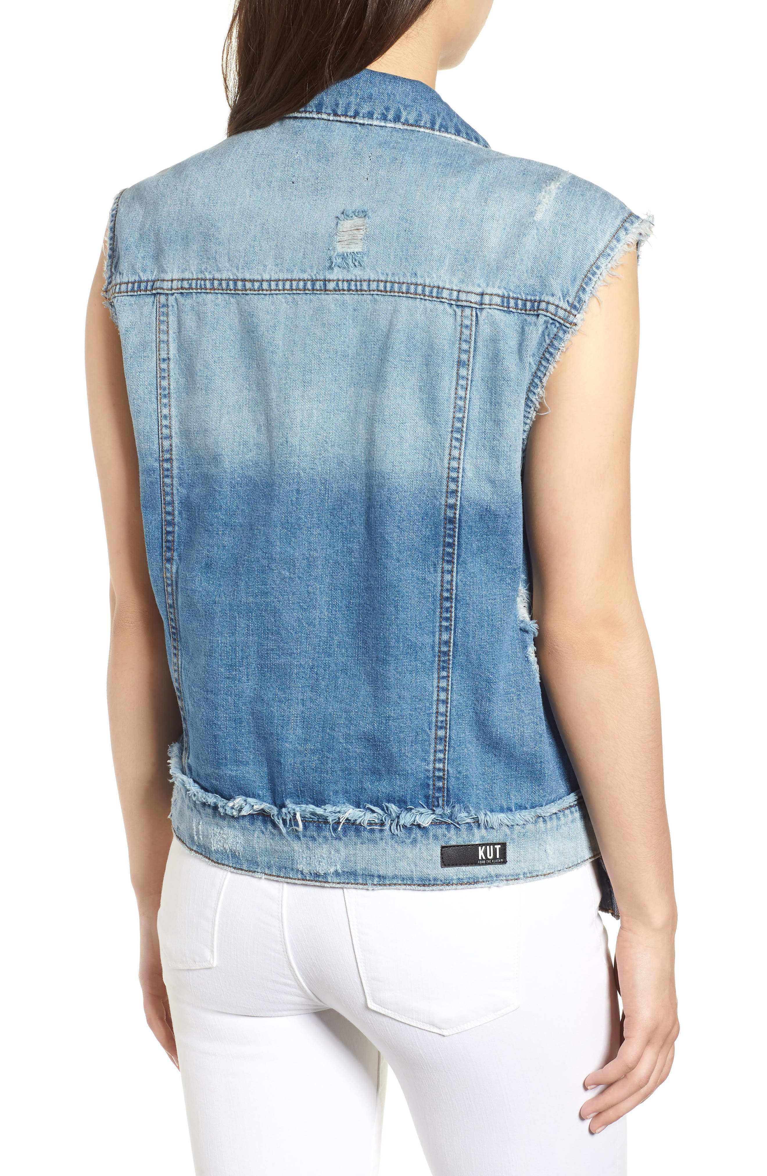 KUT from the Kloth Denim Vest,                             Alternate thumbnail 2, color,                             Augmented