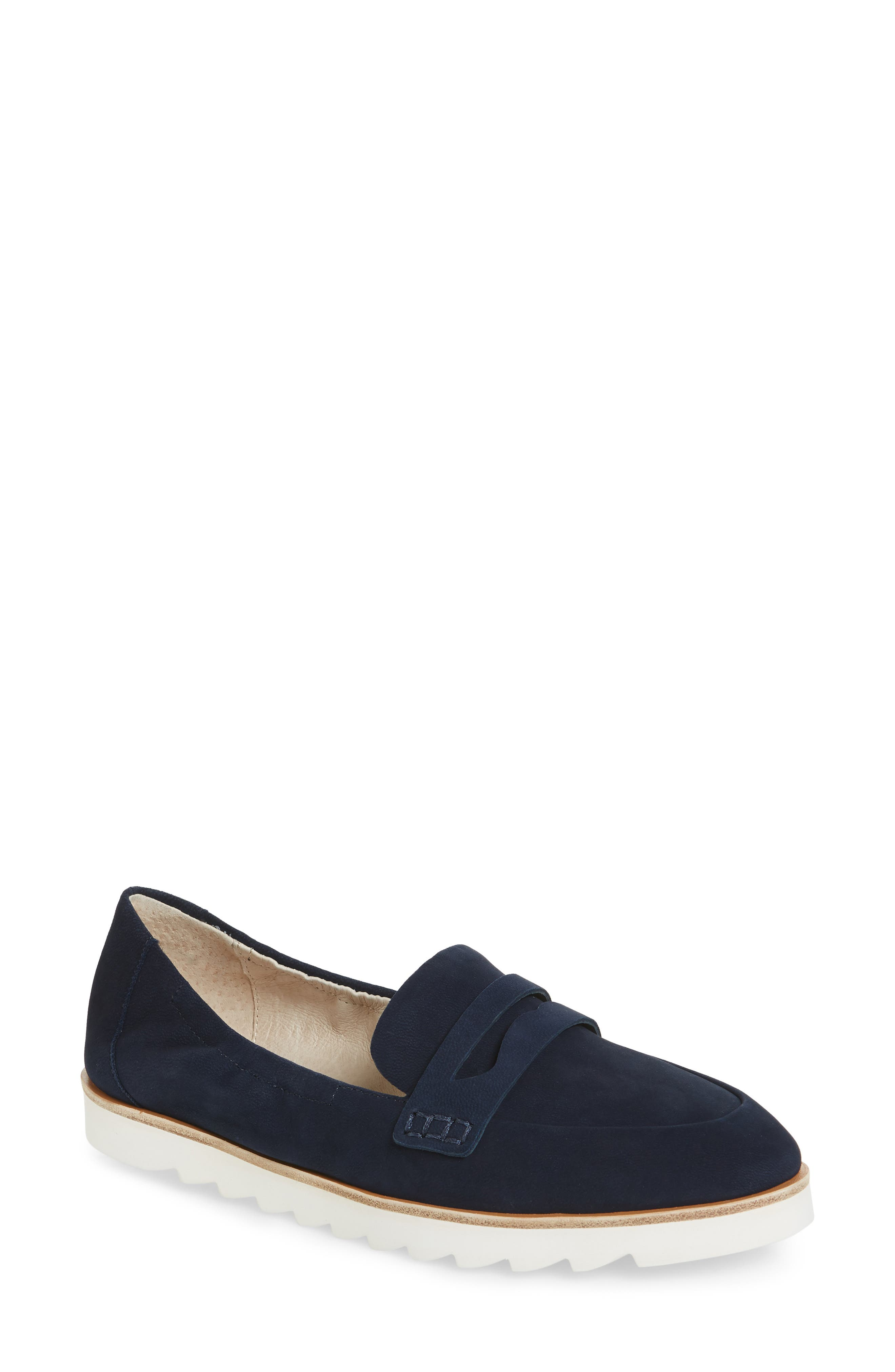 Rylee Penny Loafer,                         Main,                         color, Navy Nubuck