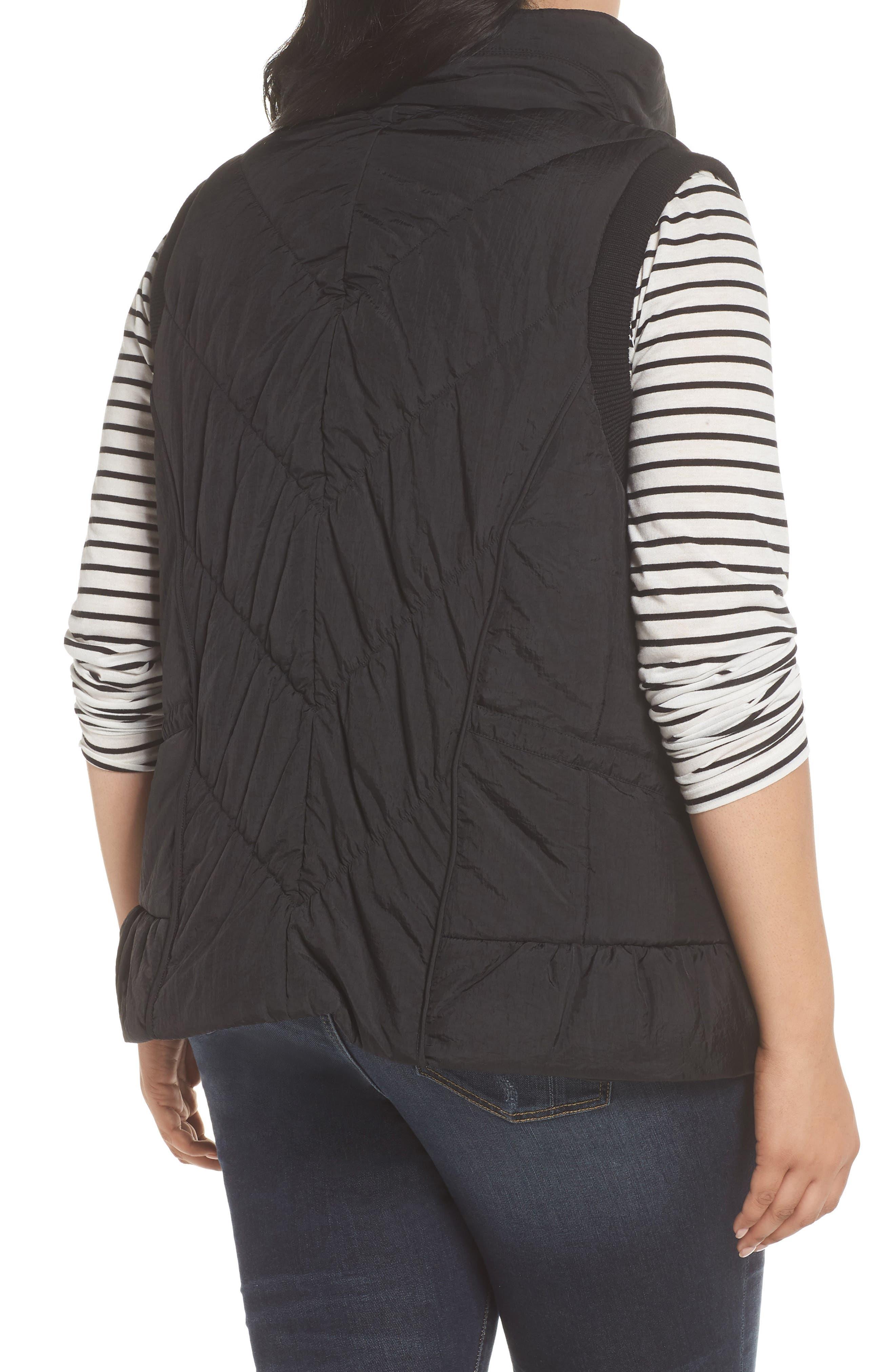Packable Pillow Collar Vest,                             Alternate thumbnail 2, color,                             Black