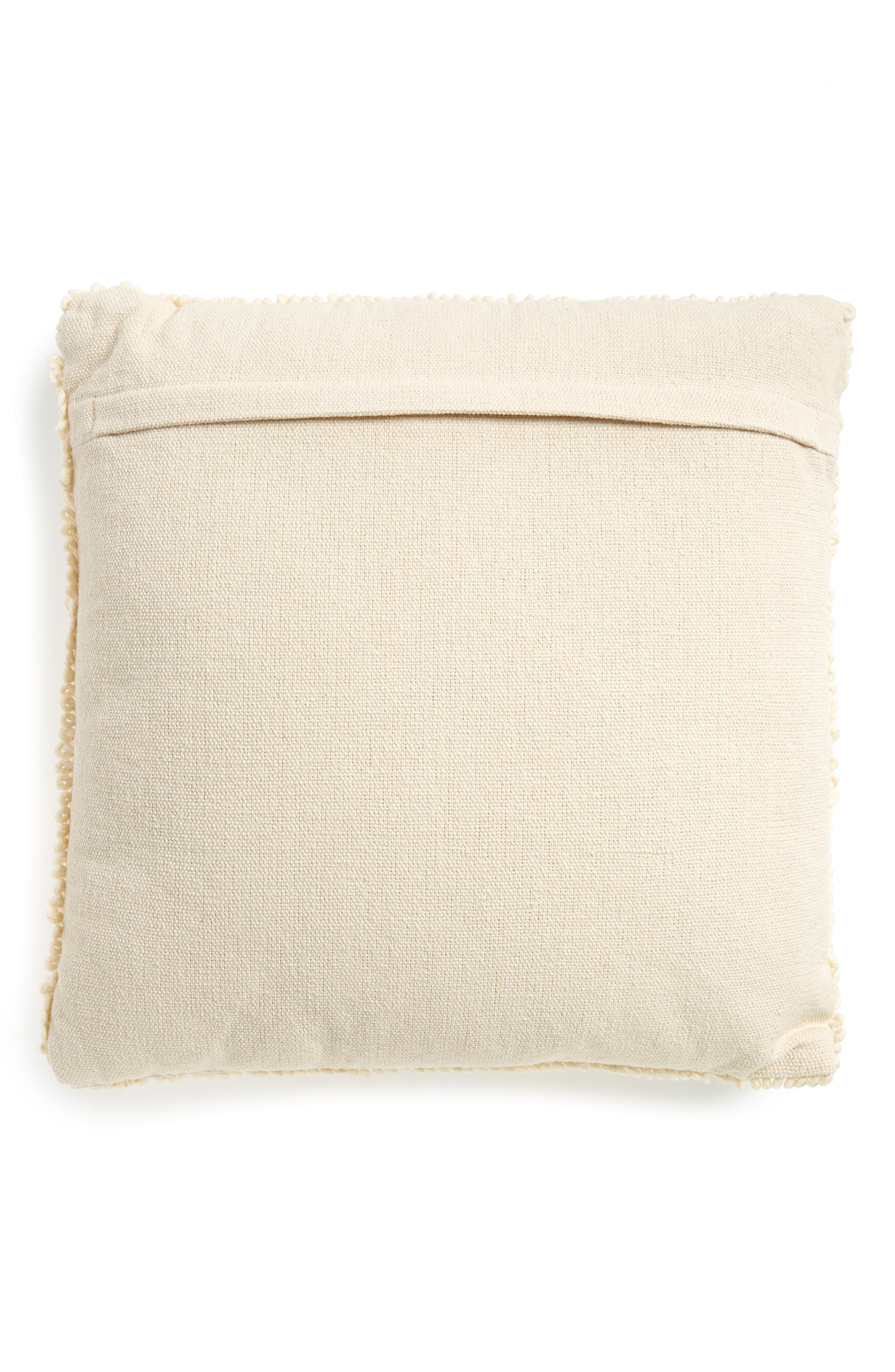 Square Accent Pillow,                             Alternate thumbnail 2, color,                             White