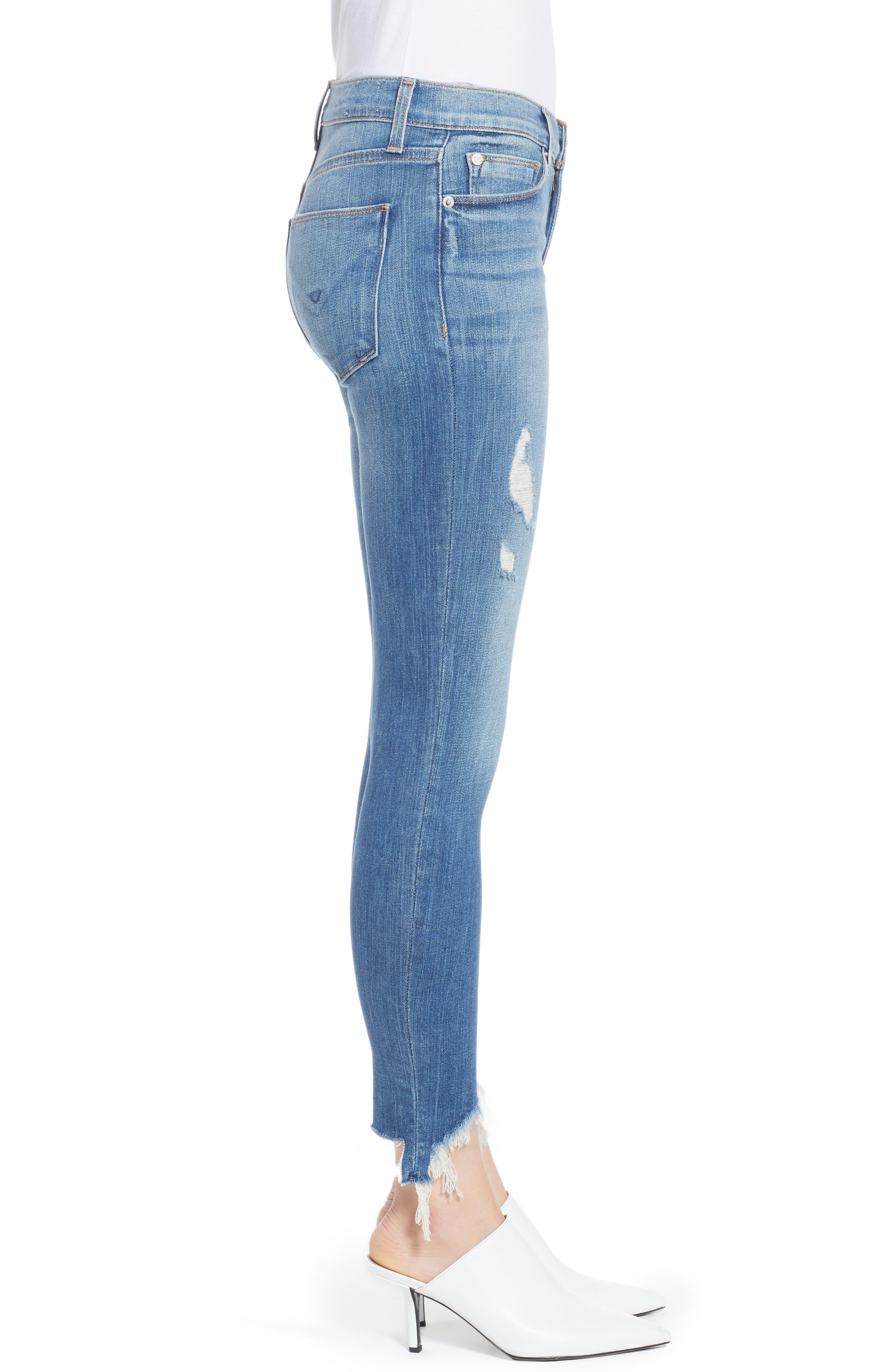 Nico Zip Hem Crop Skinny Jeans,                             Alternate thumbnail 3, color,                             Bite Back