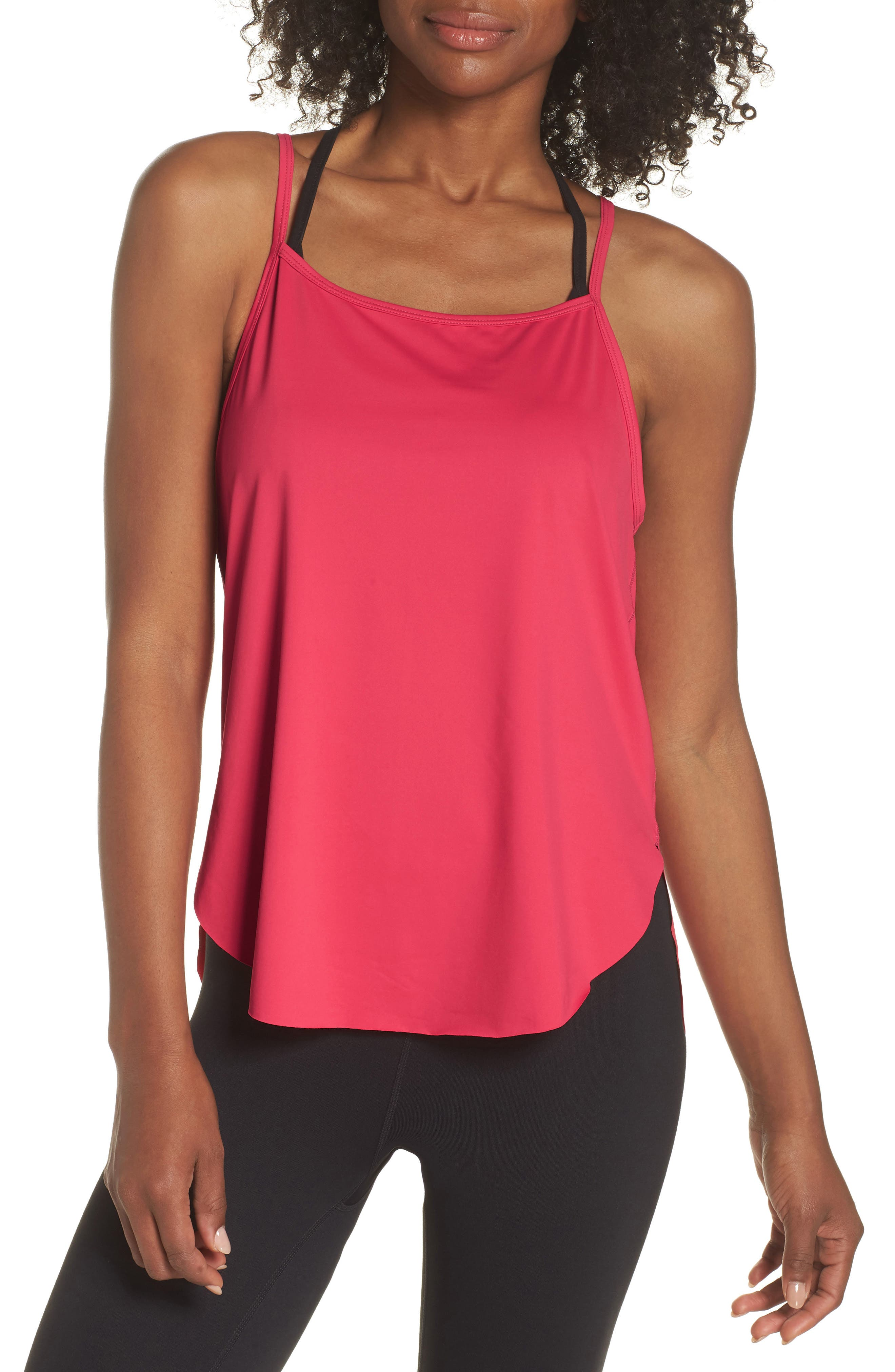 Fera Perforated Tank,                             Main thumbnail 1, color,                             Red Desire
