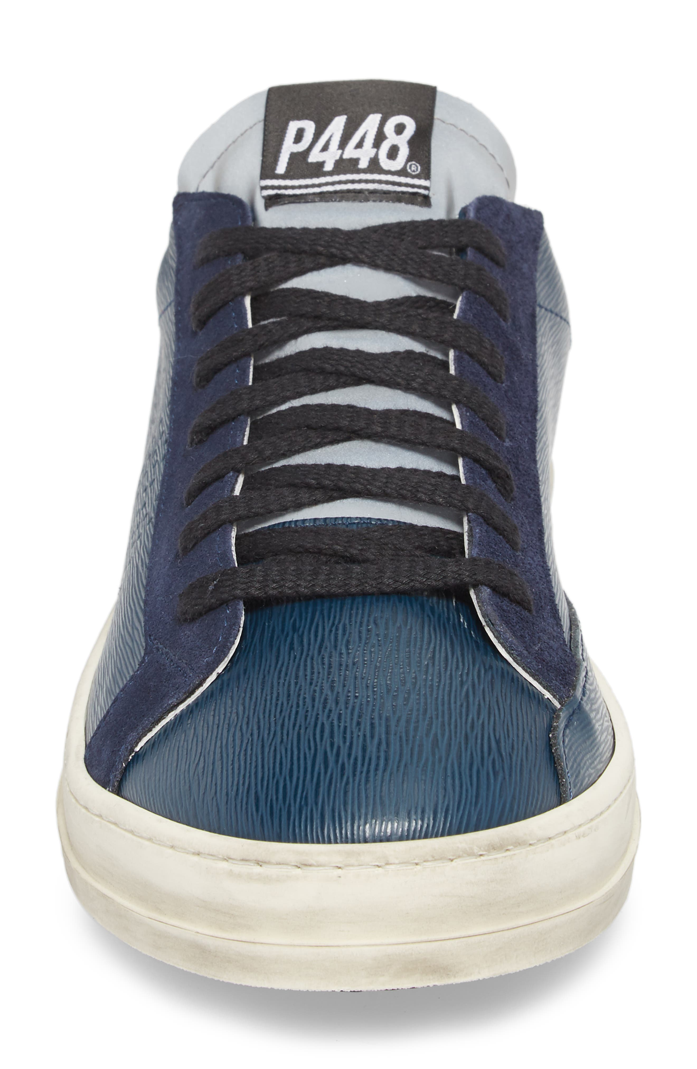 John Low Top Sneaker,                             Alternate thumbnail 4, color,                             Navy
