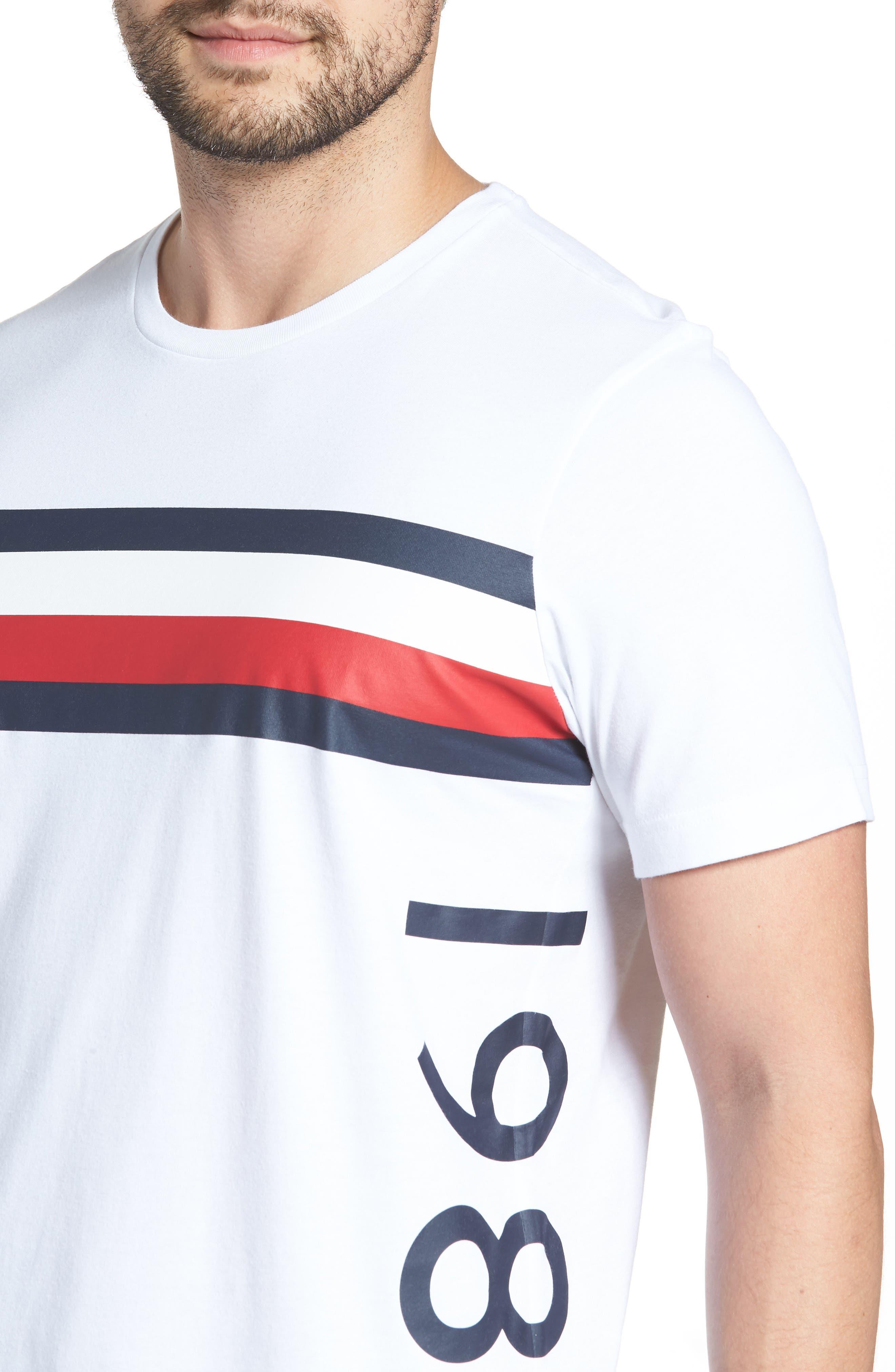1985 Stripe T-Shirt,                             Alternate thumbnail 4, color,                             White