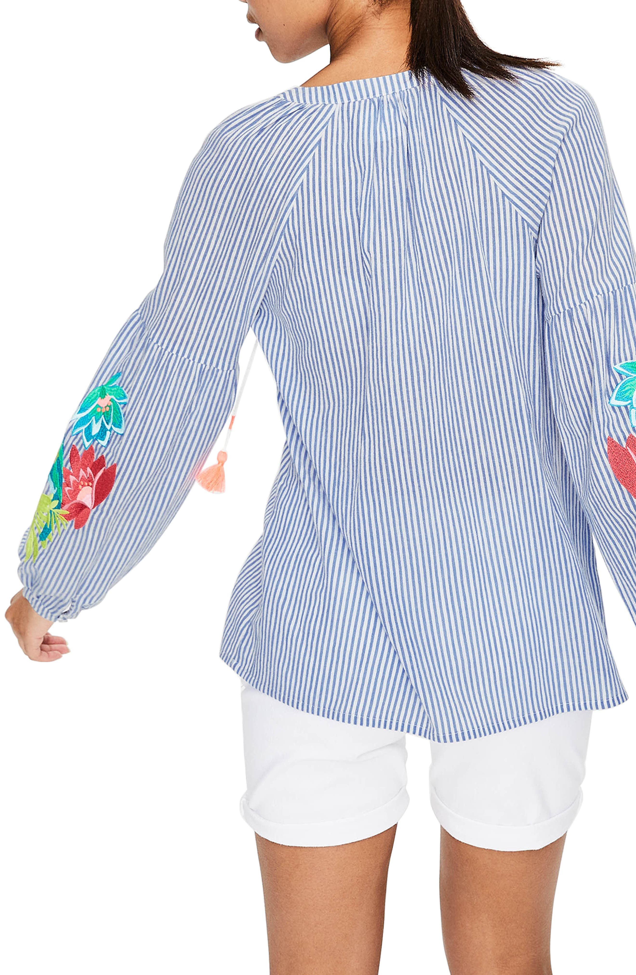 Embroidered Tassel Top,                             Alternate thumbnail 2, color,                             Floral Parrot Embroi