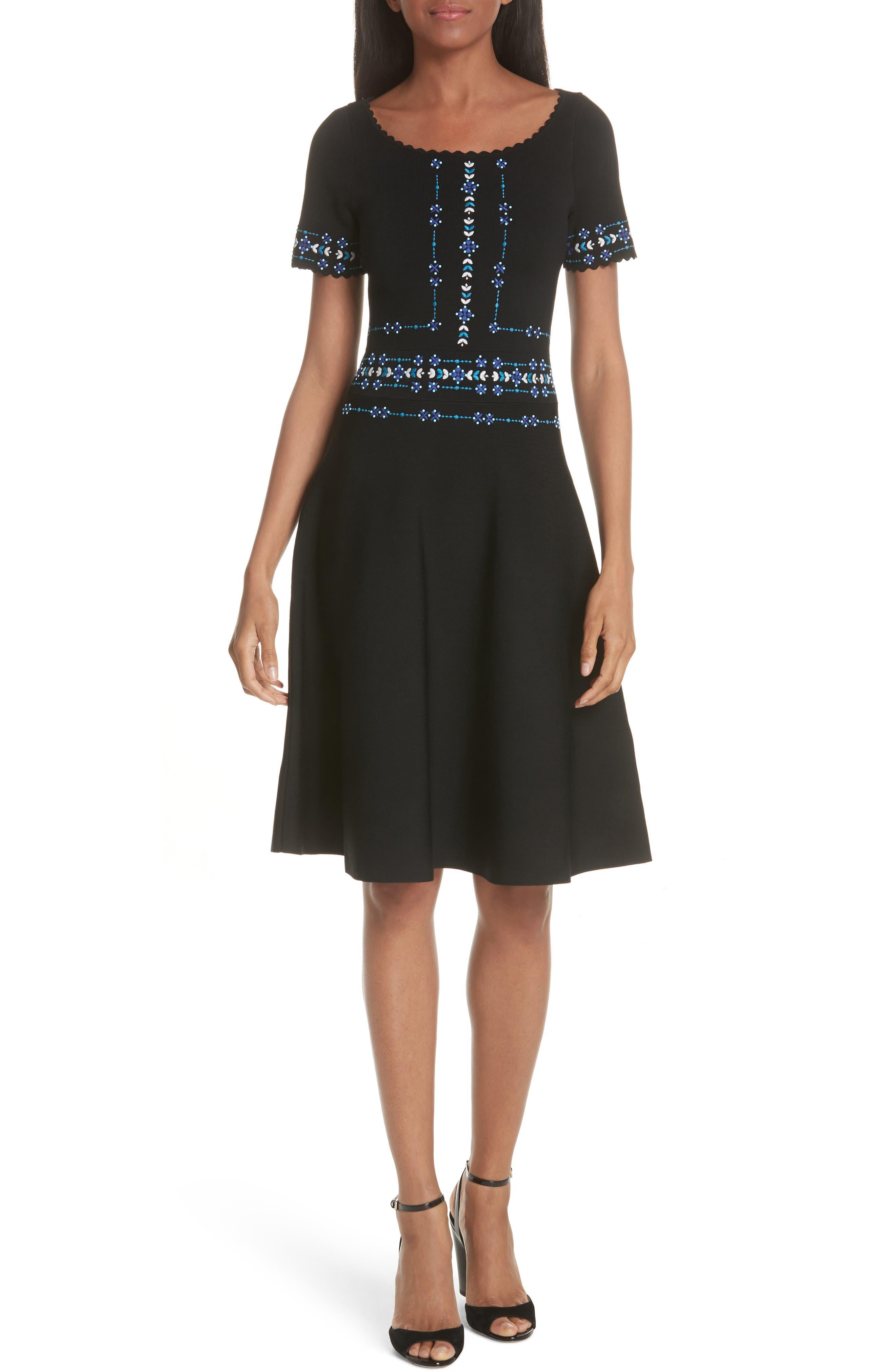 sandro Beaded A-Line Dress