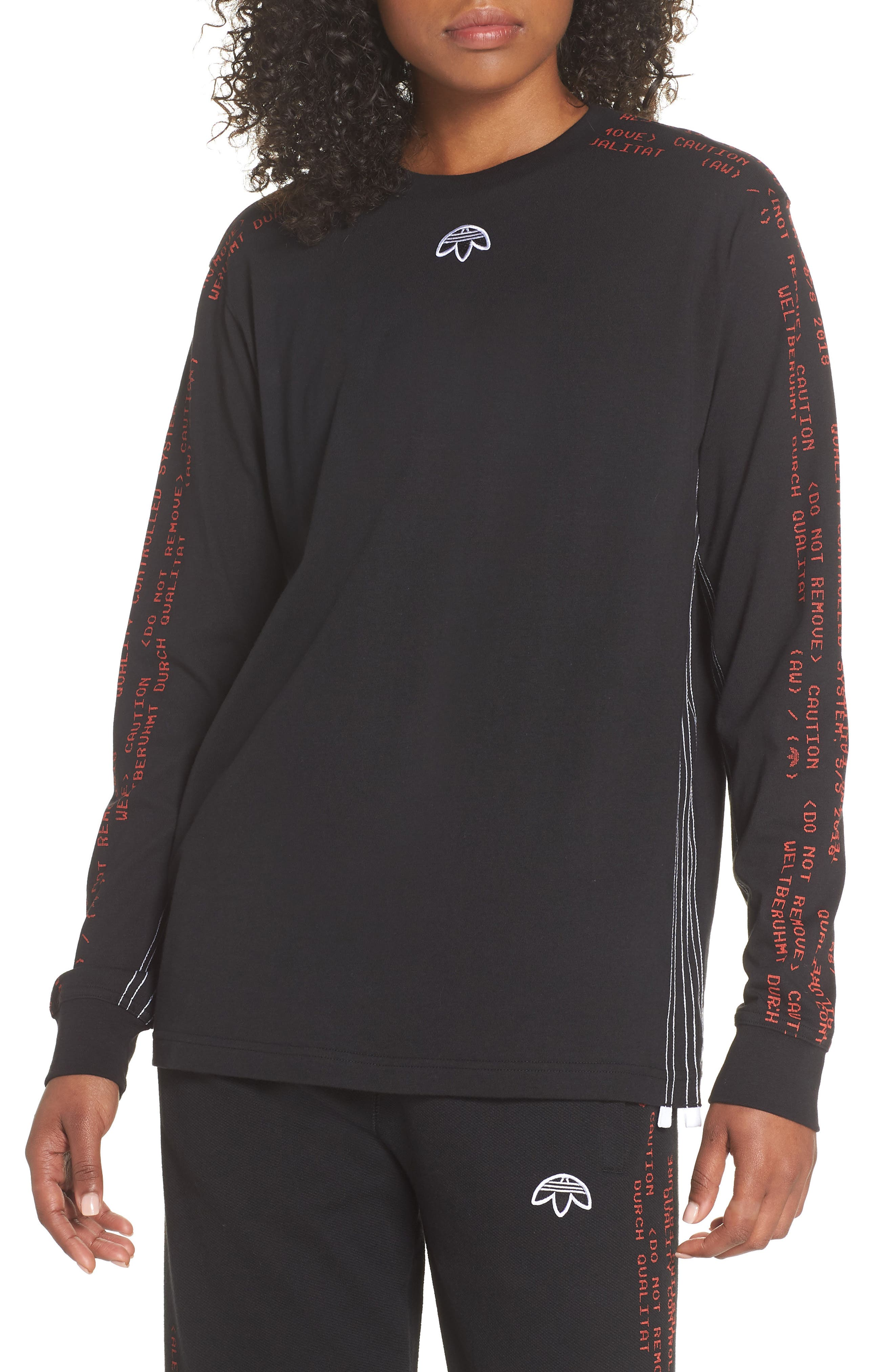 Tee,                         Main,                         color, Black/ Core Red