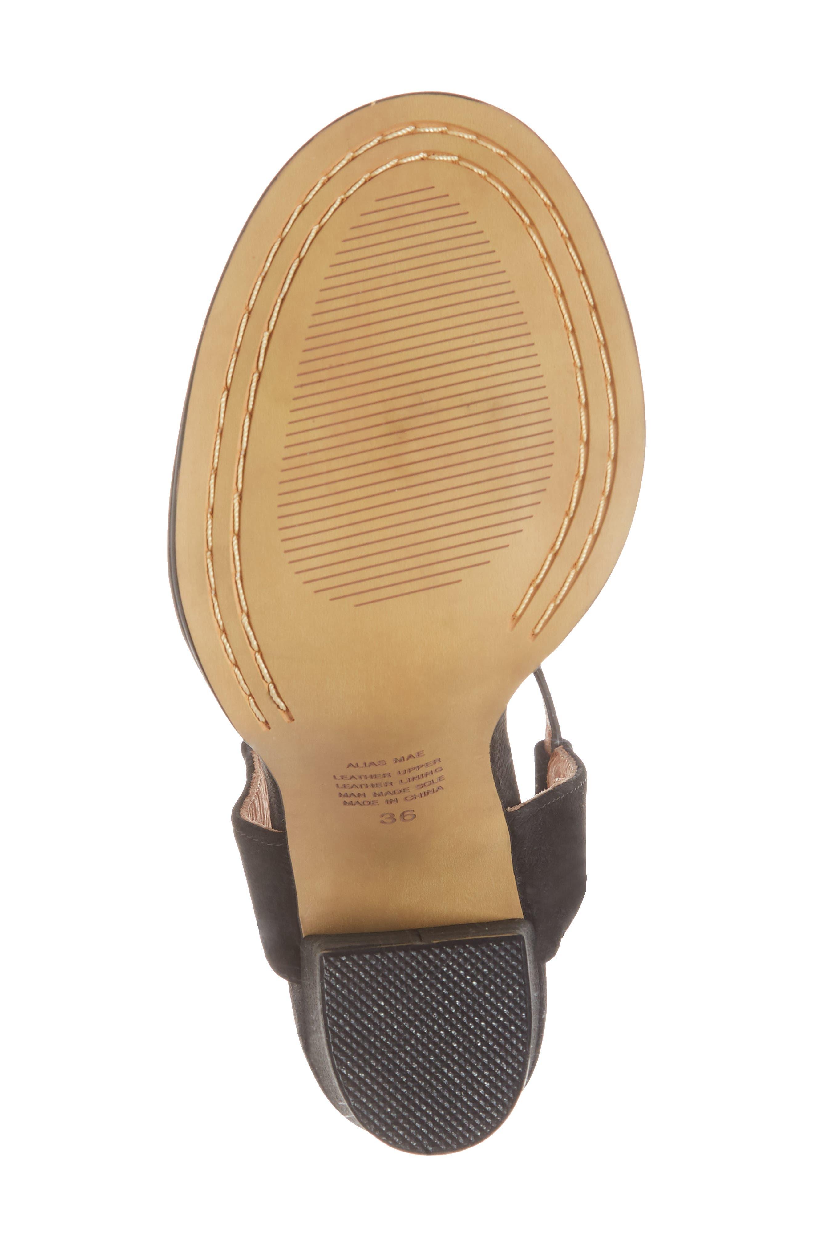 Jynk Sandal,                             Alternate thumbnail 6, color,                             Black Leather