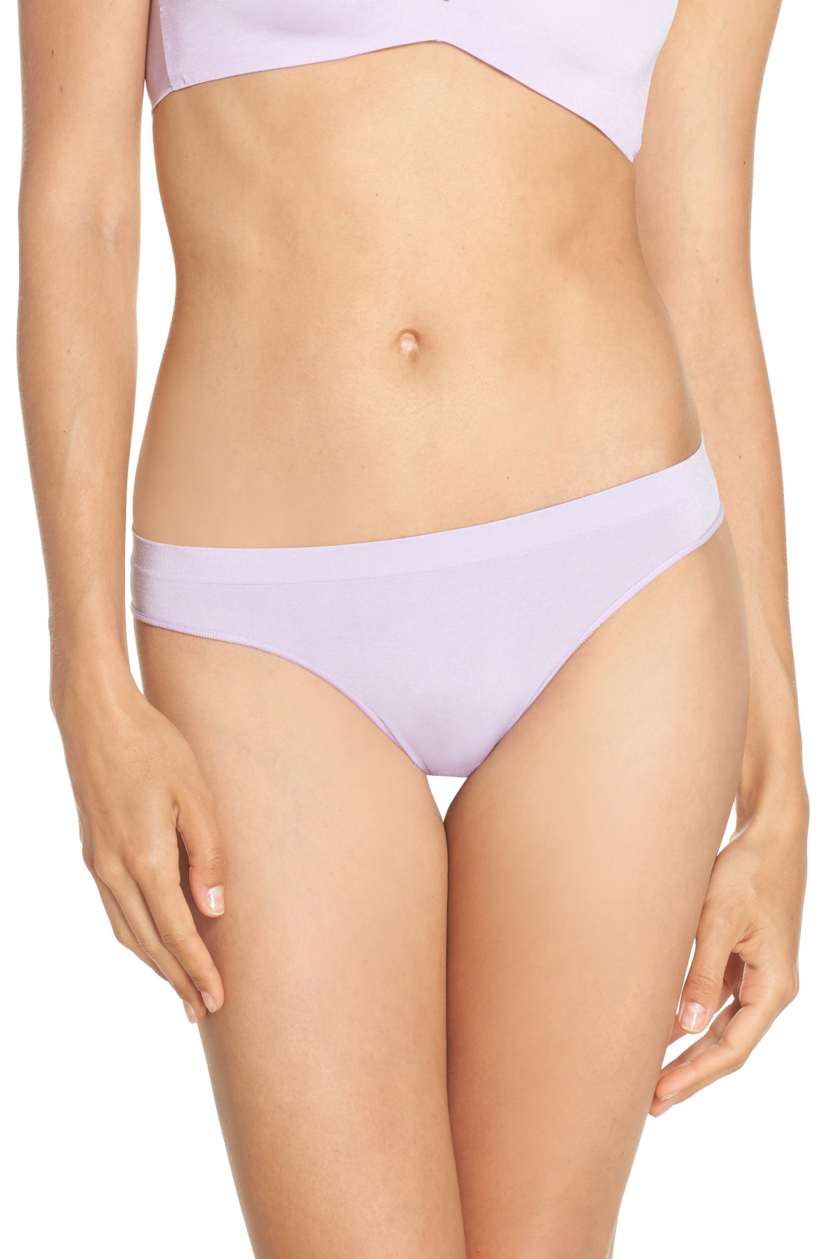 Stretch Thong,                             Main thumbnail 1, color,                             Purple Rose Heather