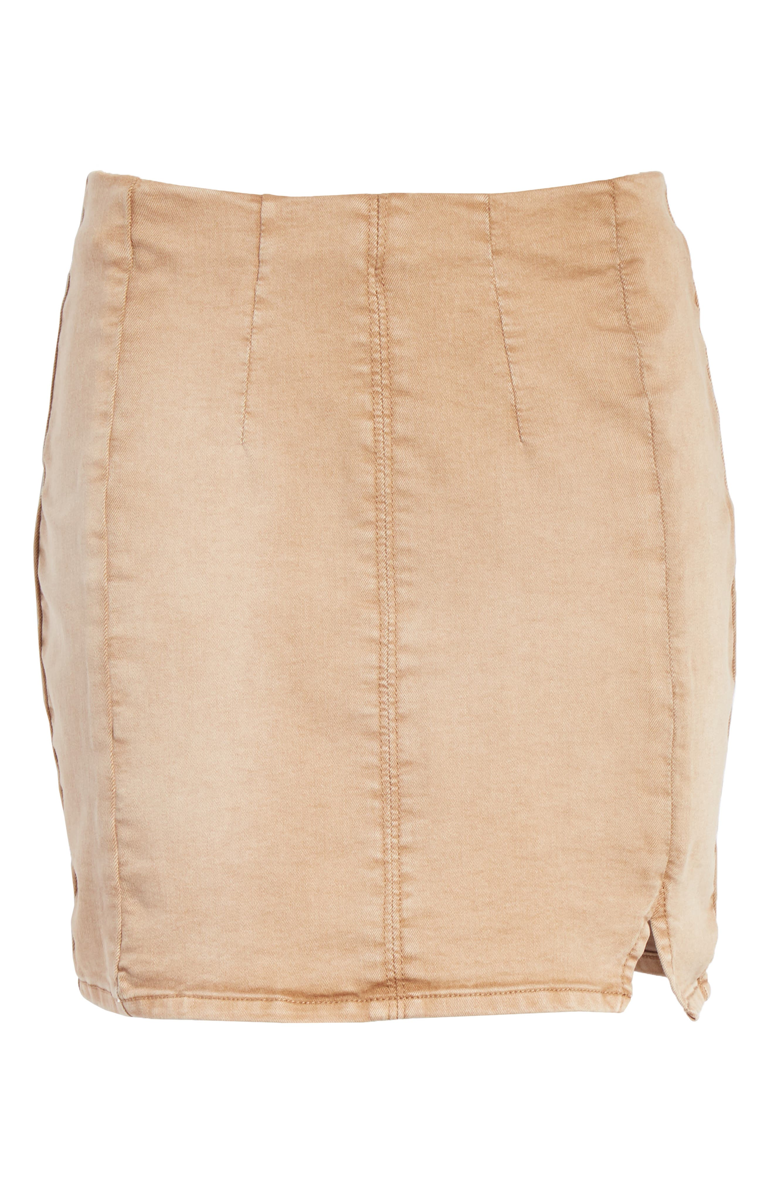 Femme Fatale Pull On Skirt,                             Alternate thumbnail 7, color,                             Khaki