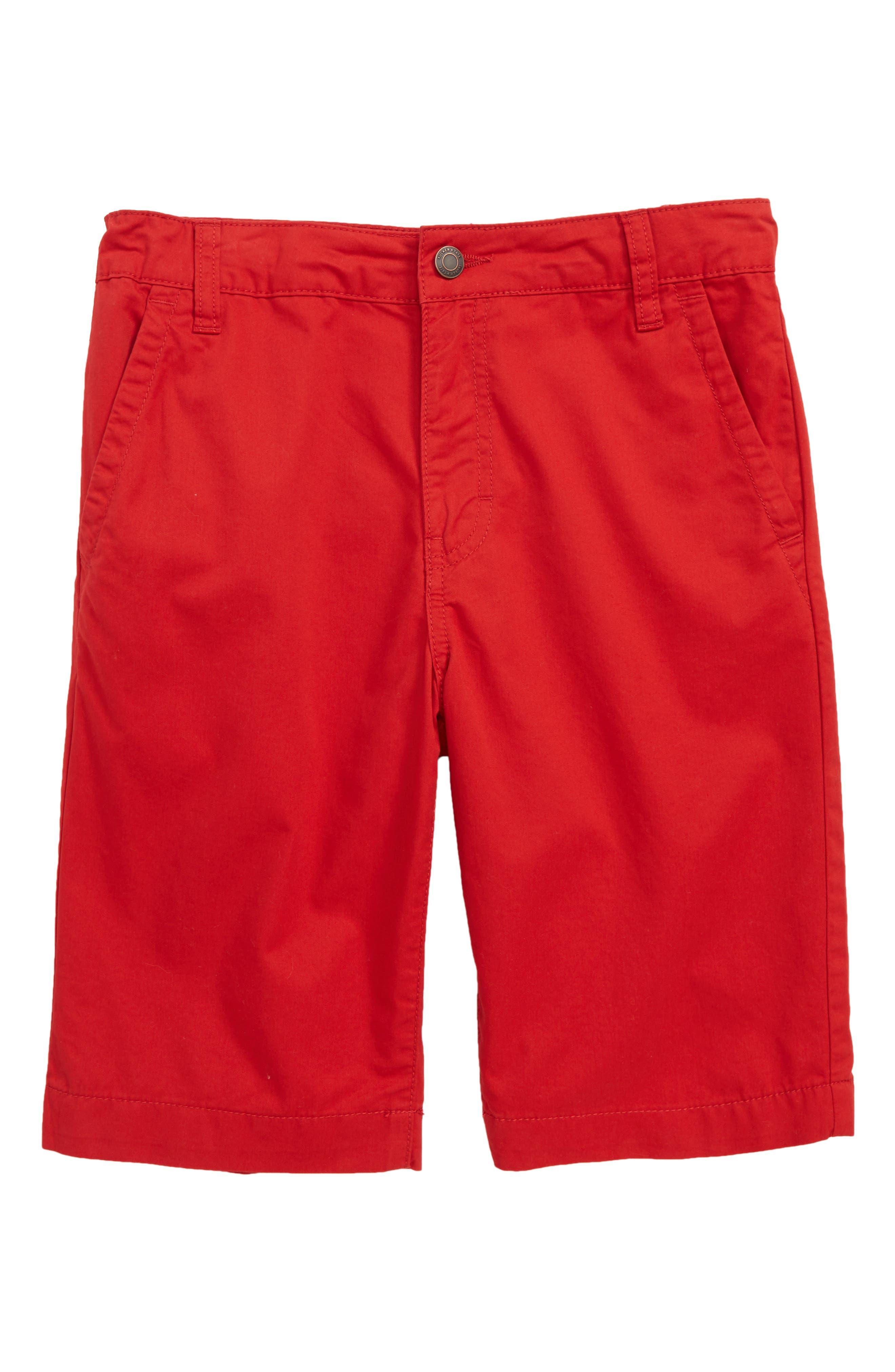 Chino Shorts,                             Main thumbnail 1, color,                             Red Samba