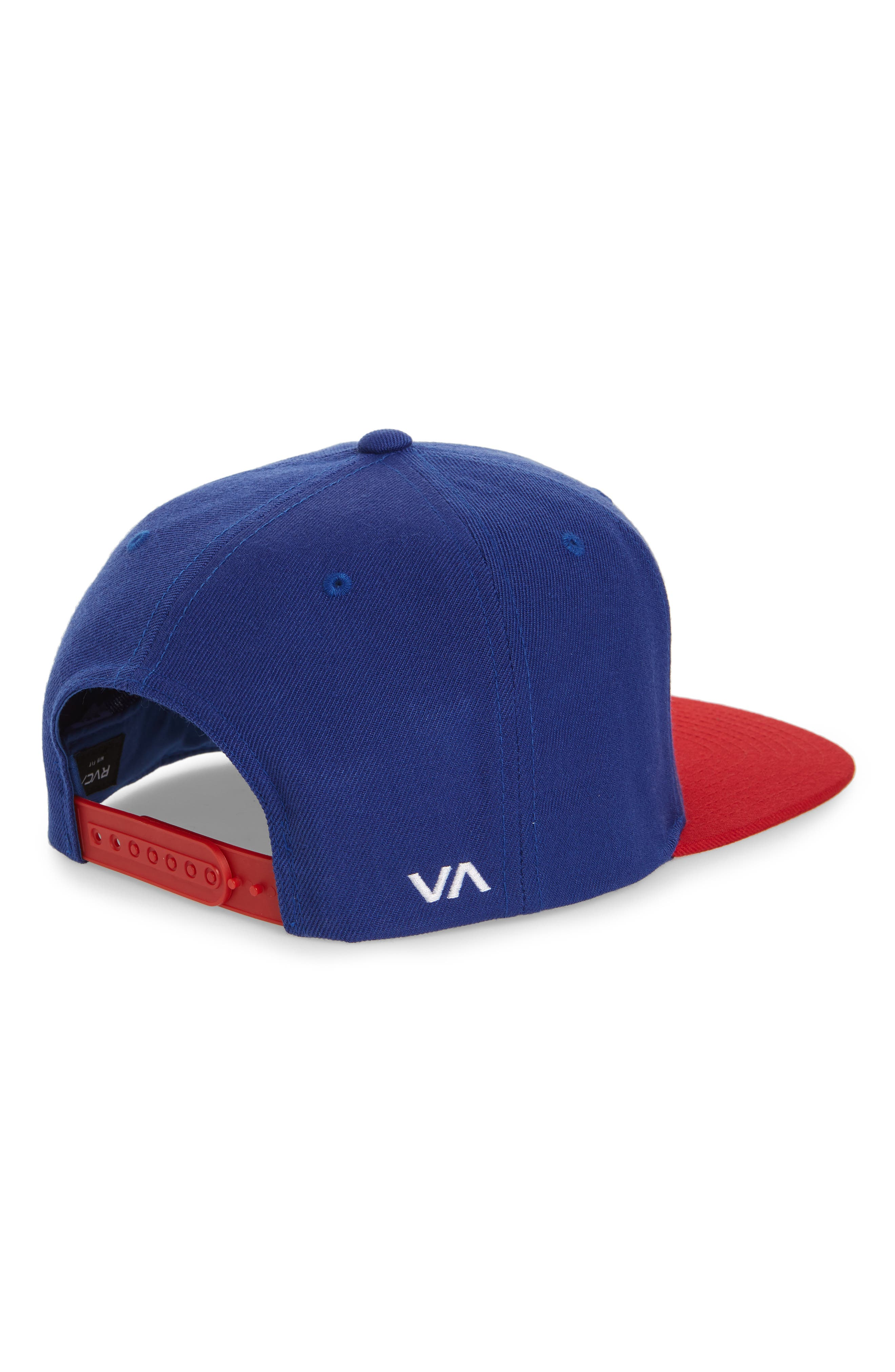 Twill Snapback Baseball Cap,                             Alternate thumbnail 2, color,                             Blue/ Red
