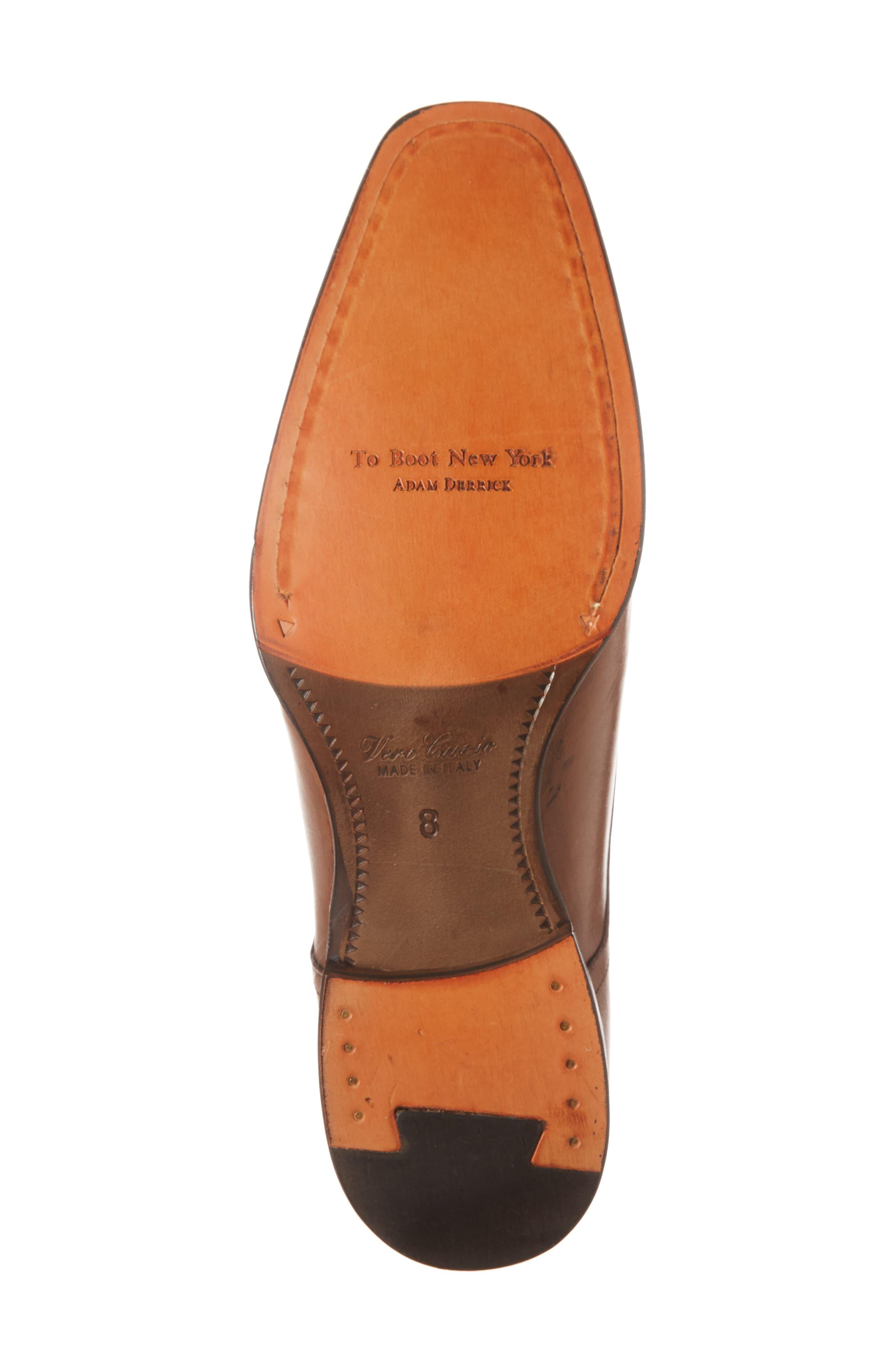 Dreyfus Cap Toe Monk Shoe,                             Alternate thumbnail 6, color,                             Brown