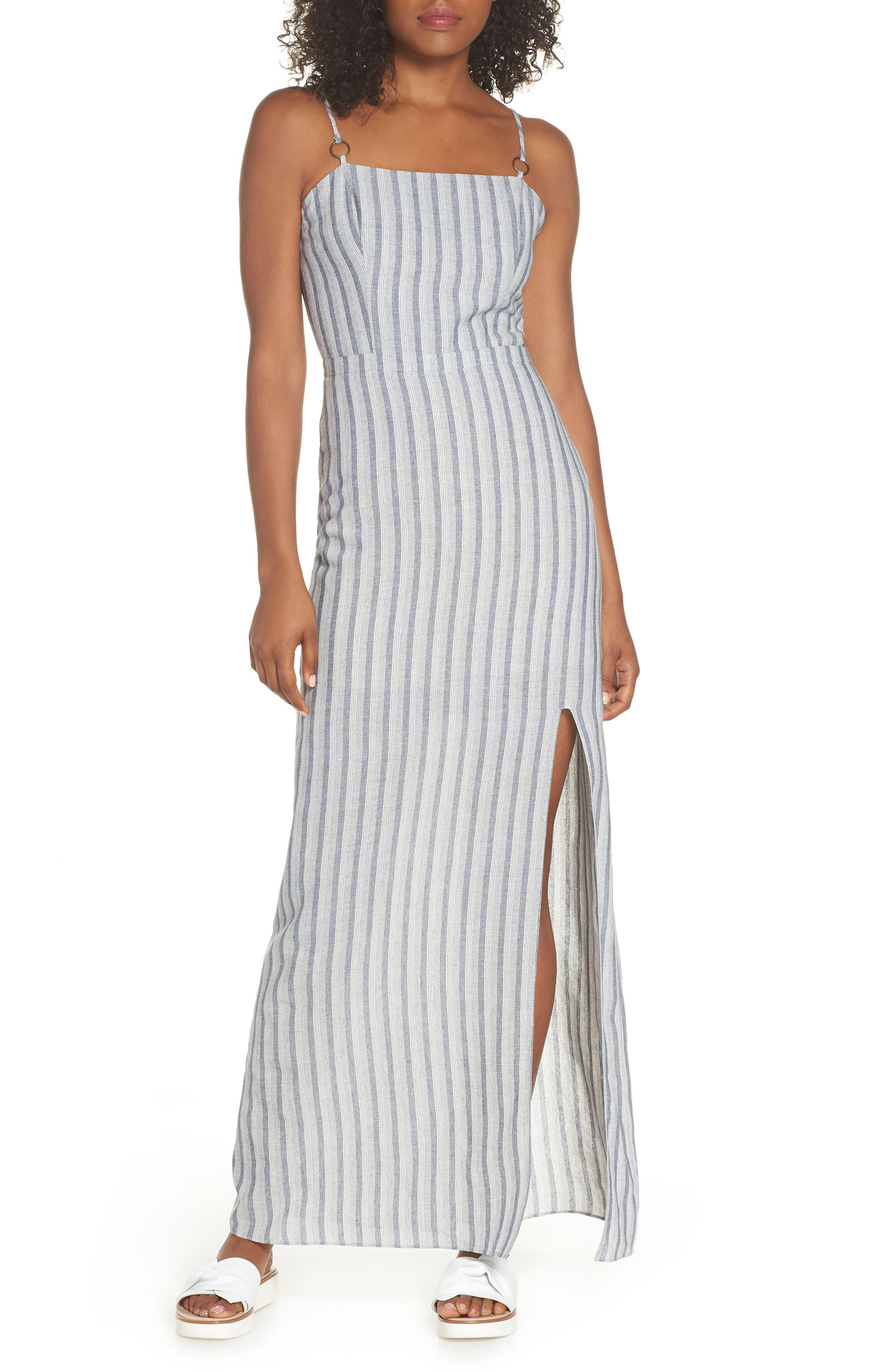 Krisa Stripe Maxi Dress,                         Main,                         color, Multi