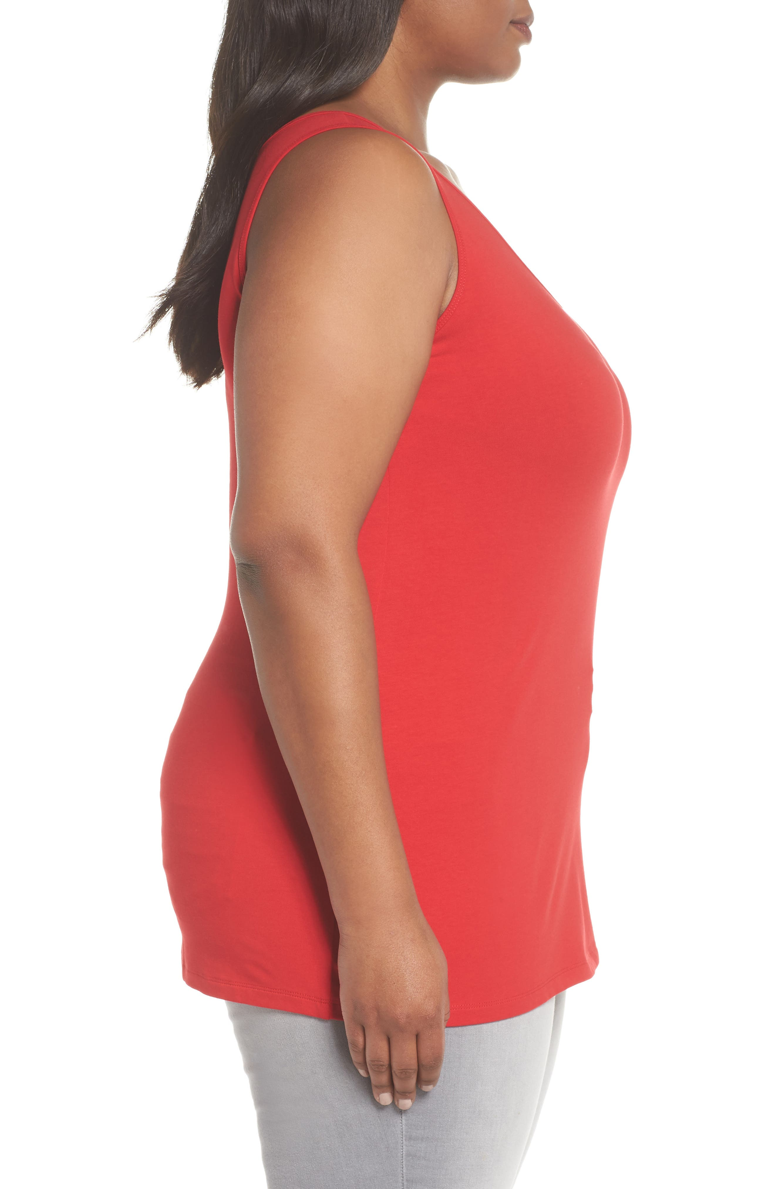 Perfect Scoop Tank,                             Alternate thumbnail 3, color,                             Red Sangria