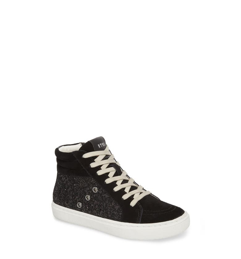 Serena Mixed Media Sneaker,                         Main,                         color, Black