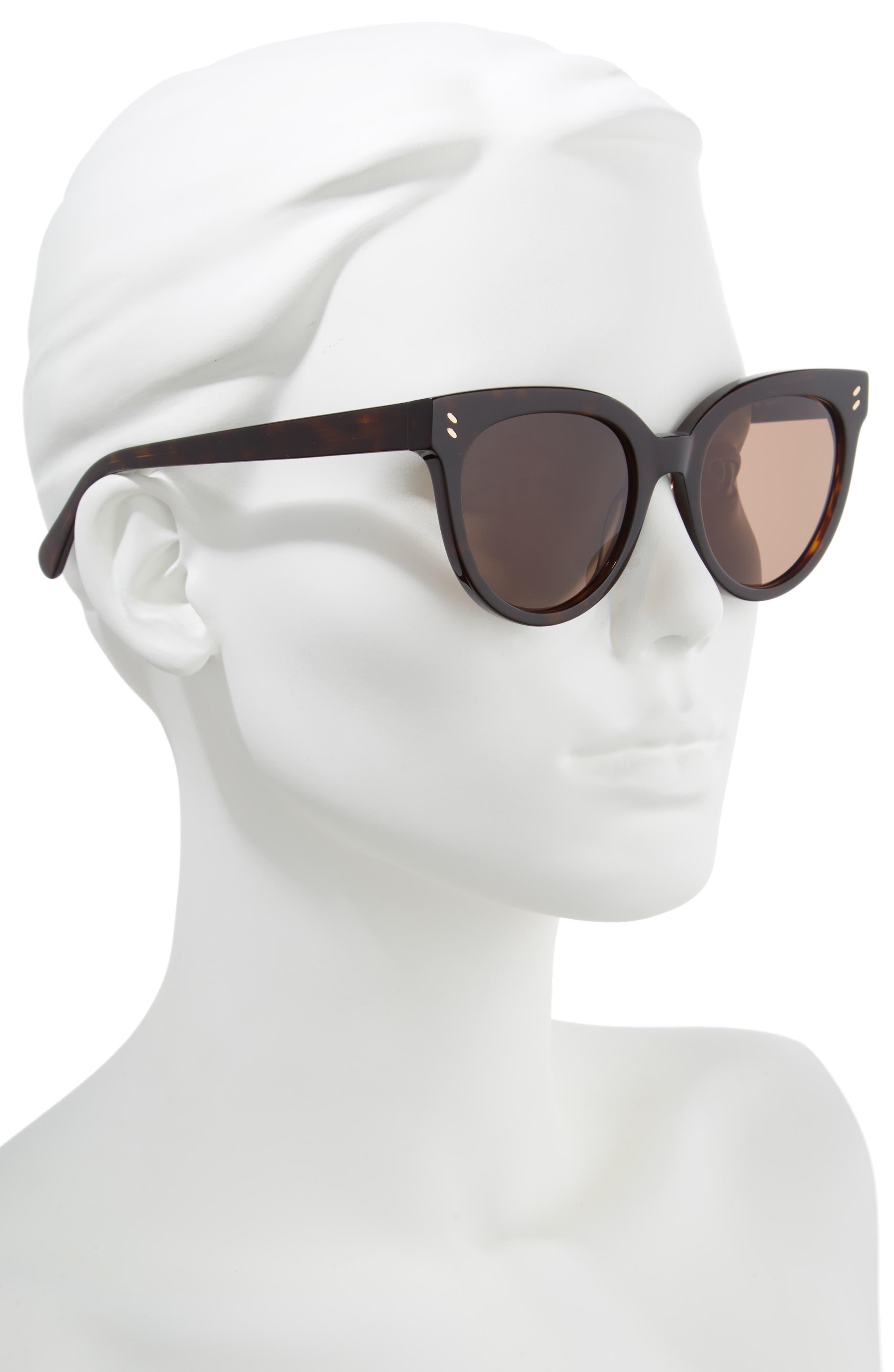 52mm Sunglasses,                             Alternate thumbnail 2, color,                             Shiny Dark Havana