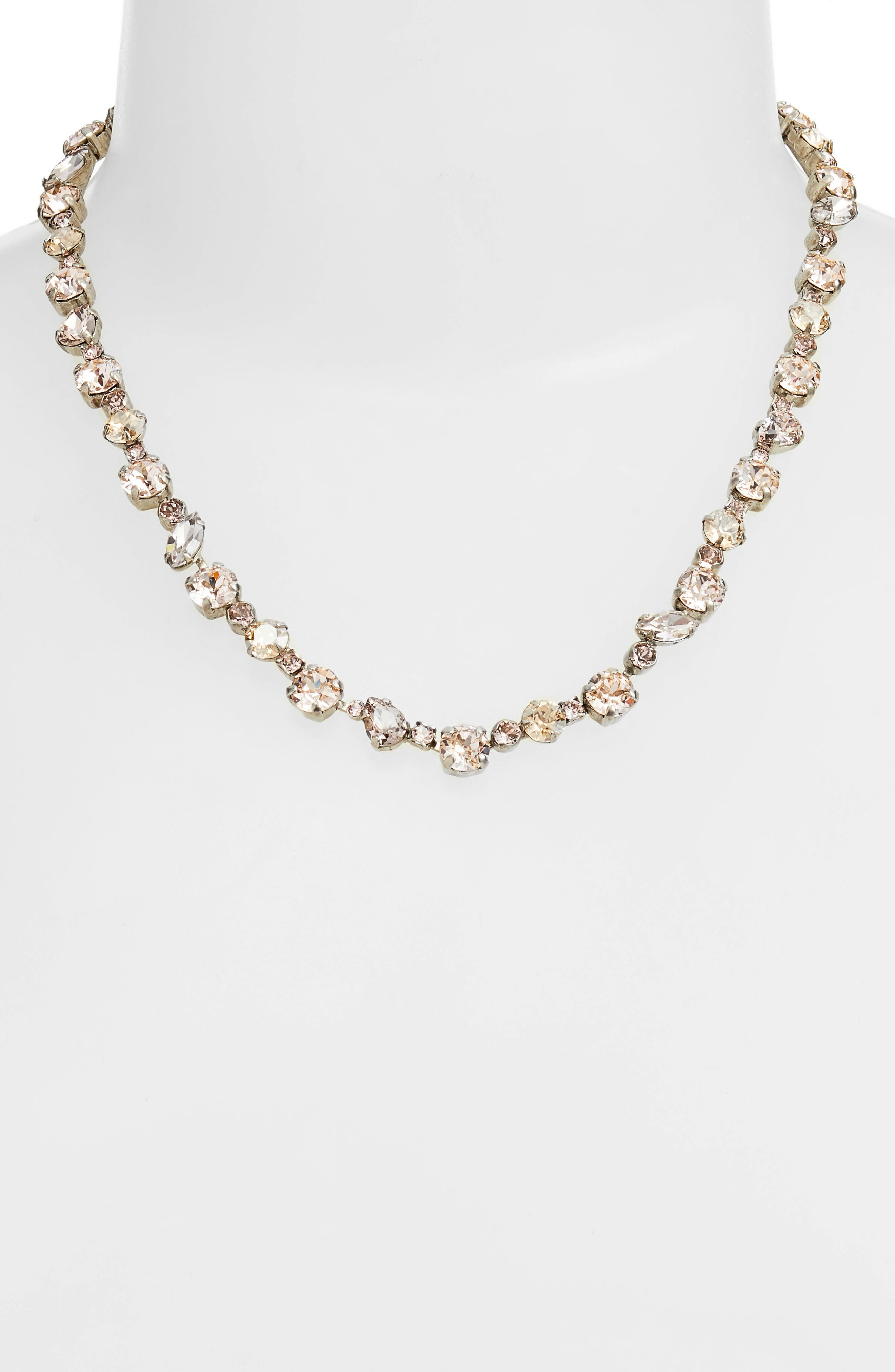 Crystal Collective Necklace,                         Main,                         color, Pink