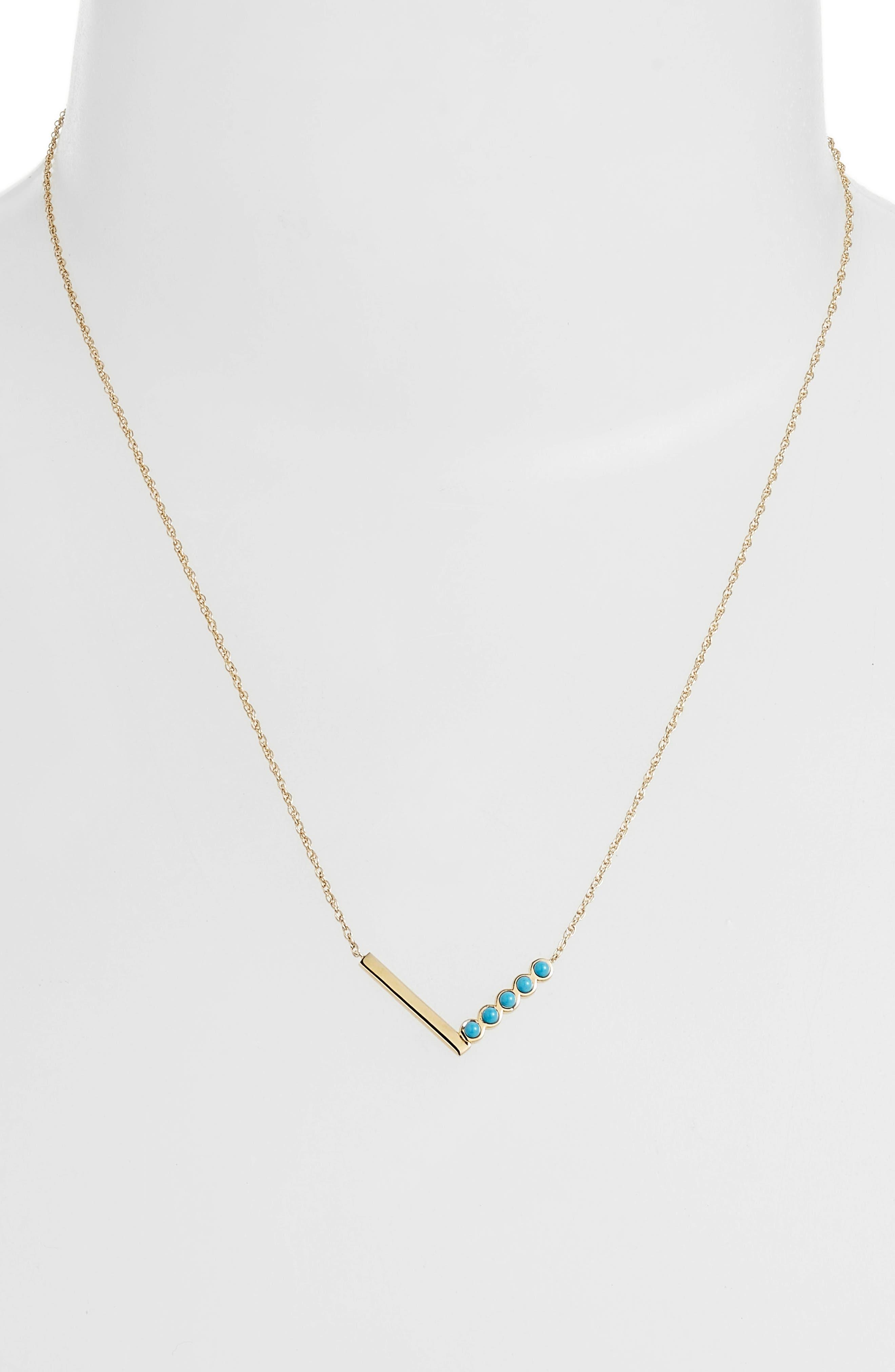 Willow Turquoise Pendant Necklace,                             Alternate thumbnail 2, color,                             Yellow Vermeil