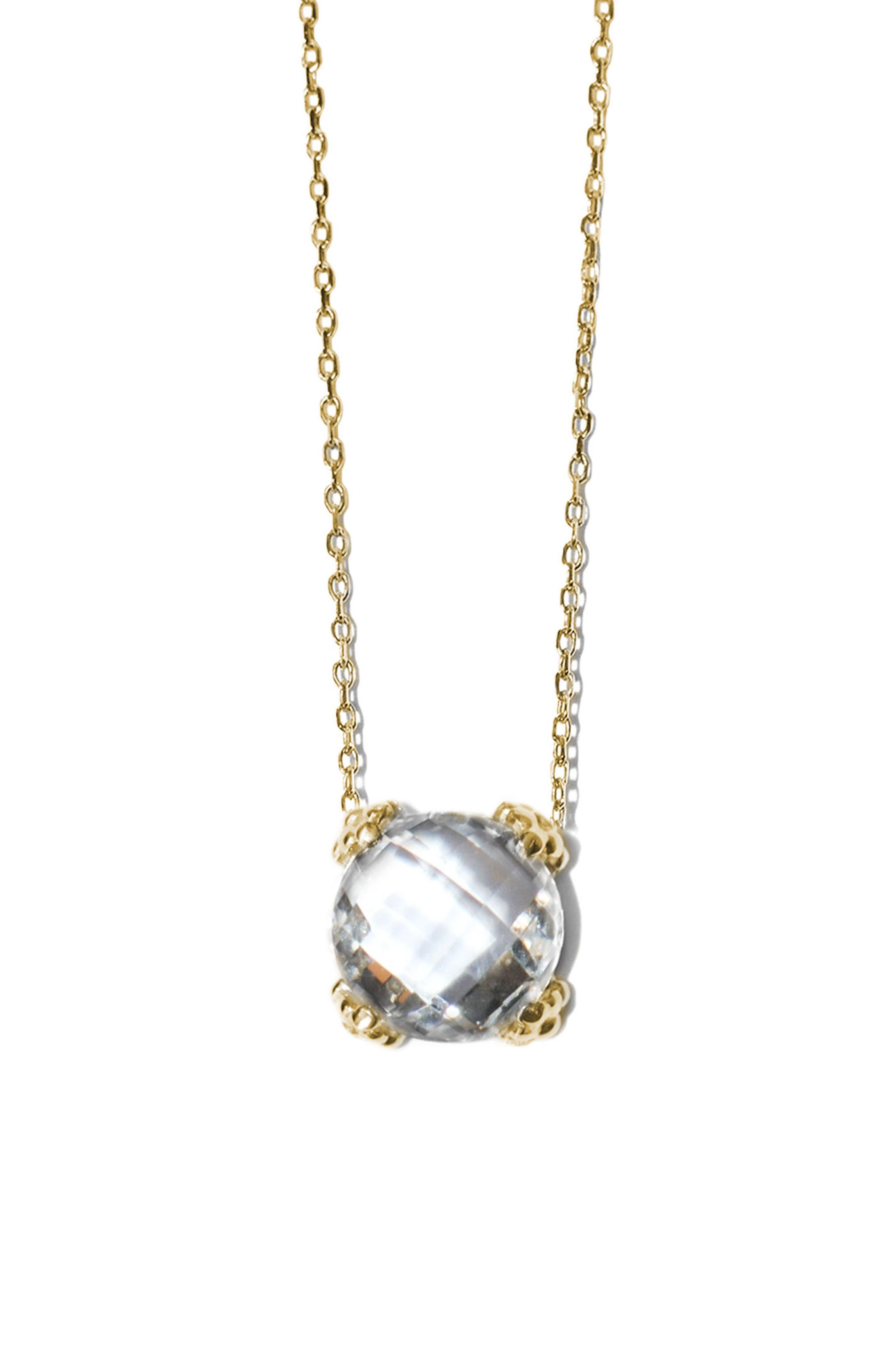 Dew Drop Cluster Topaz Pendant Necklace,                         Main,                         color, Gold