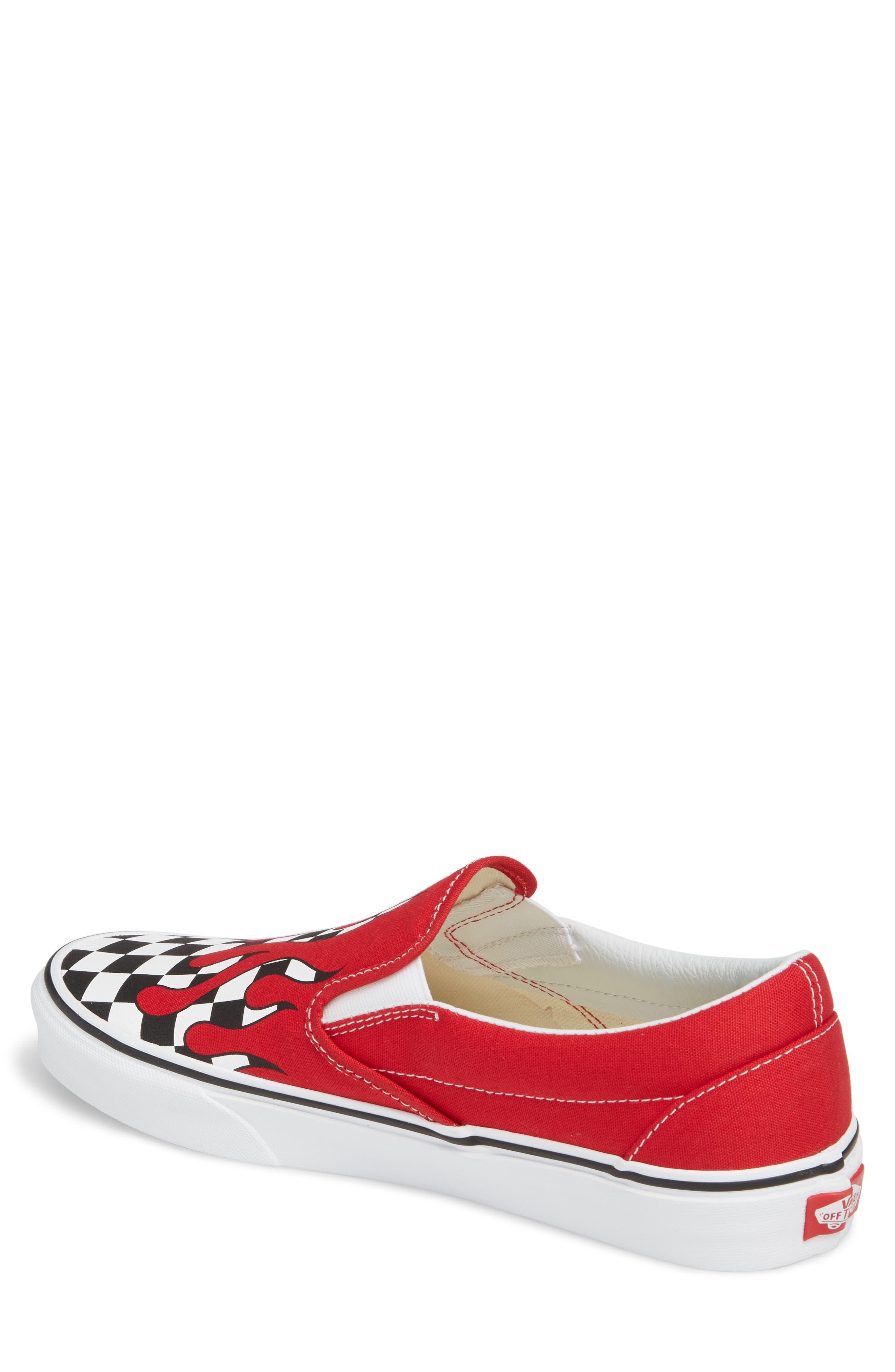 UA Classic Slip-On Sneaker,                             Alternate thumbnail 2, color,                             Racing Red/ White Checker