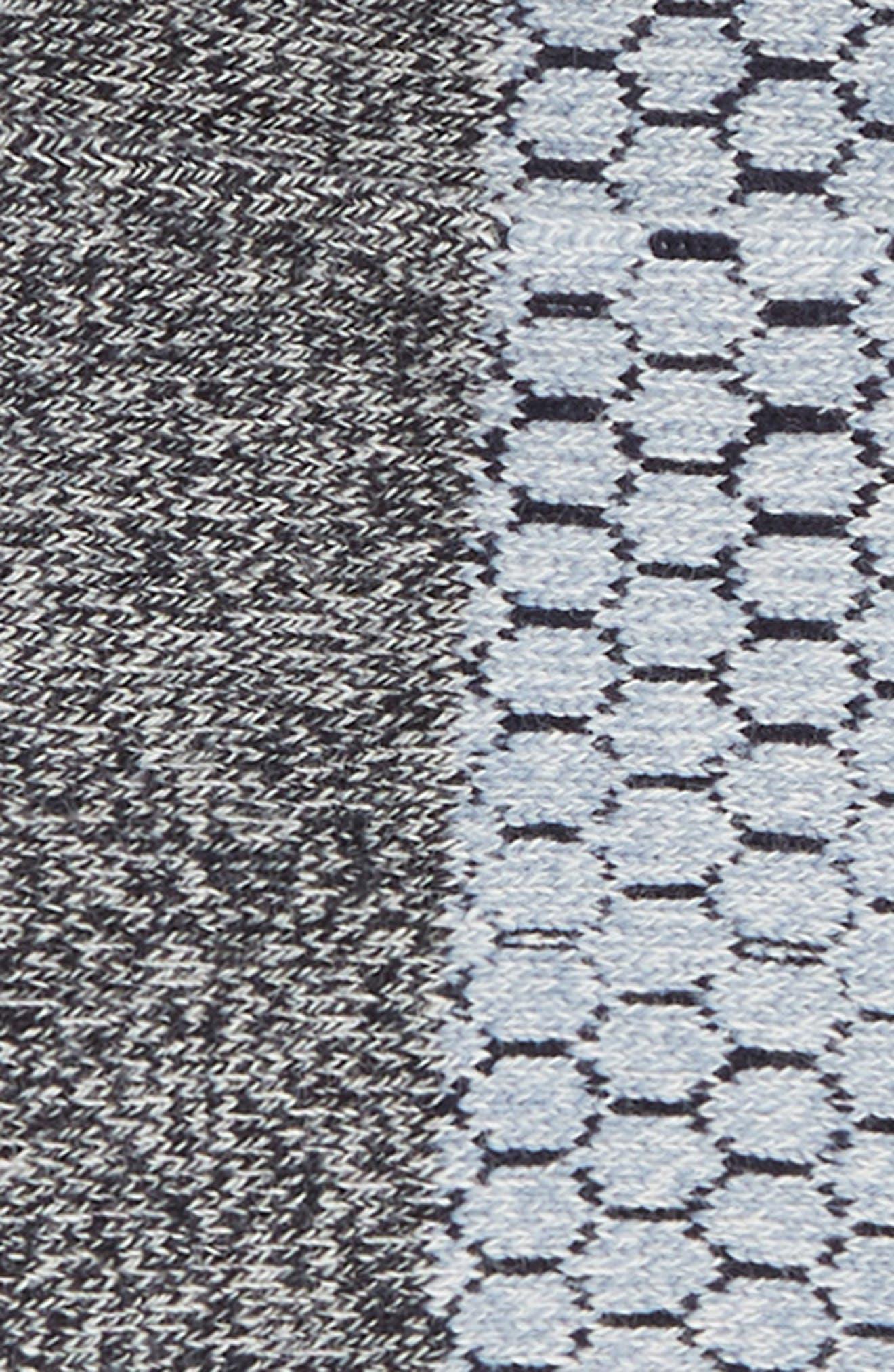Colorblock Ankle Socks,                             Alternate thumbnail 2, color,                             Midnight/ Soft Blue/ Grey