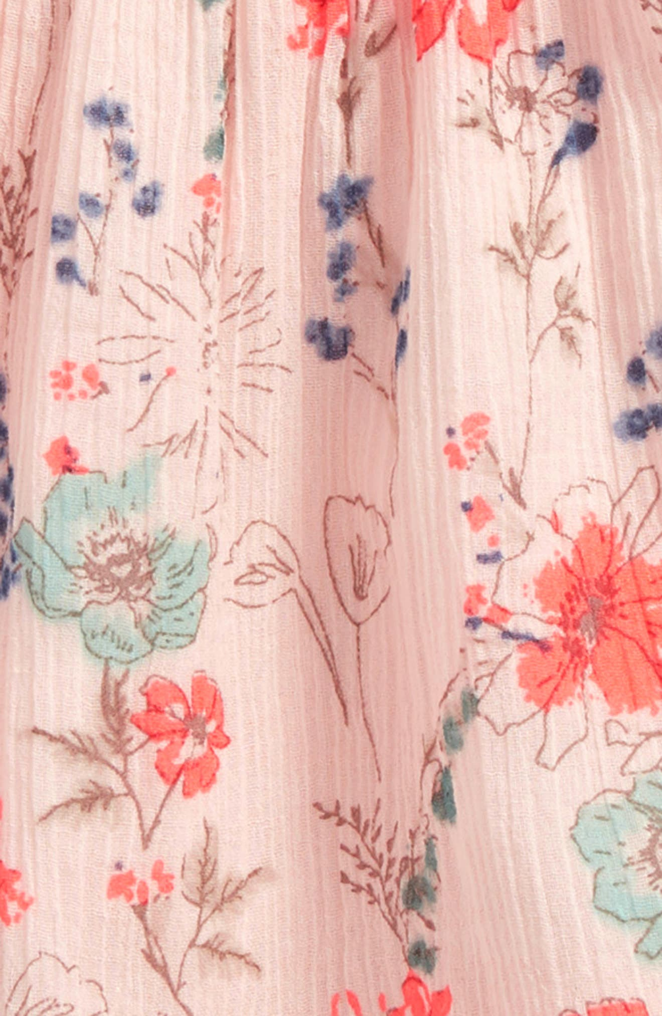 Floral Swing Dress,                             Alternate thumbnail 2, color,                             Pink Peach Spaced Garden
