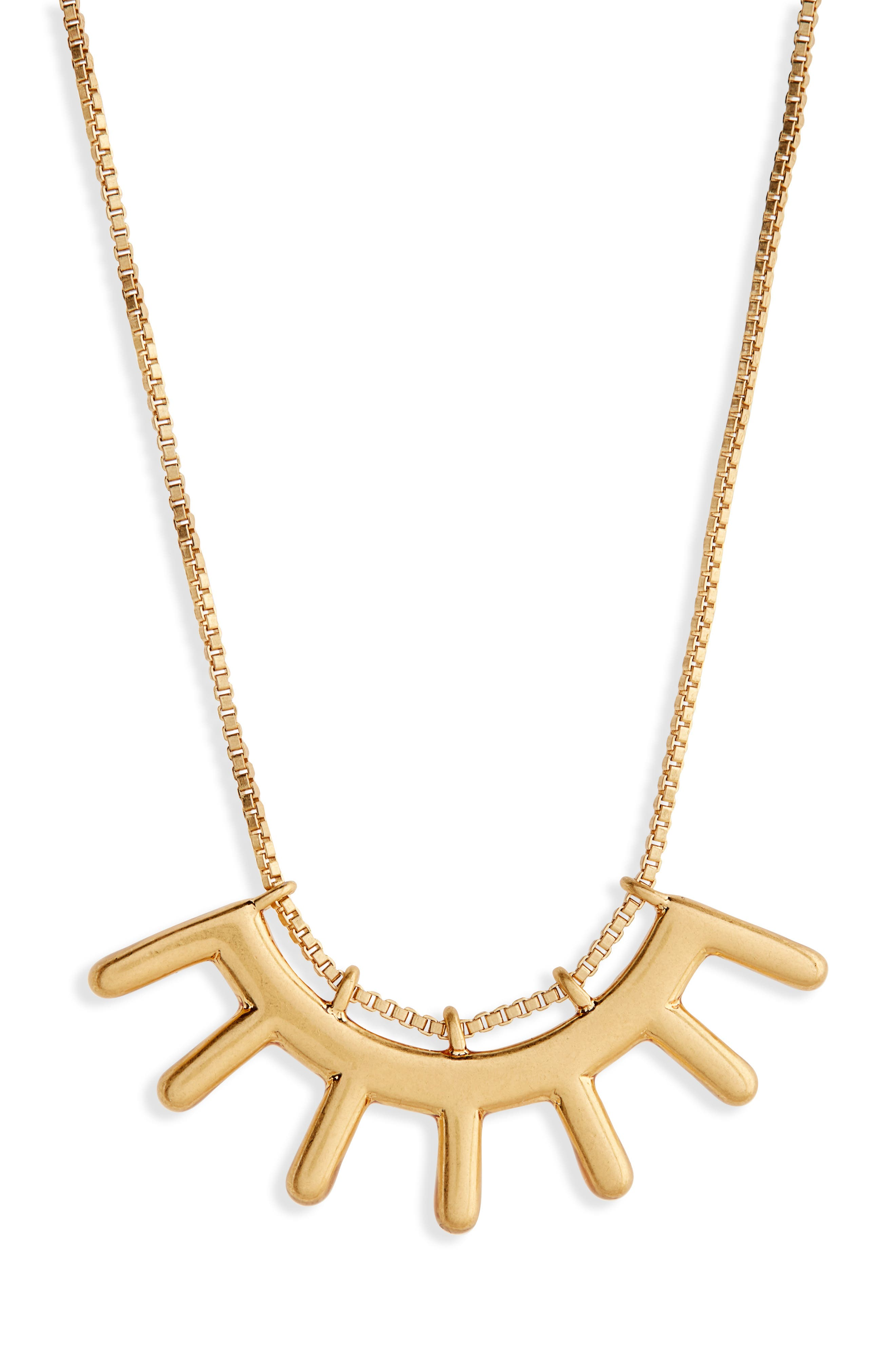 Madewell Succulent Pendant Necklace