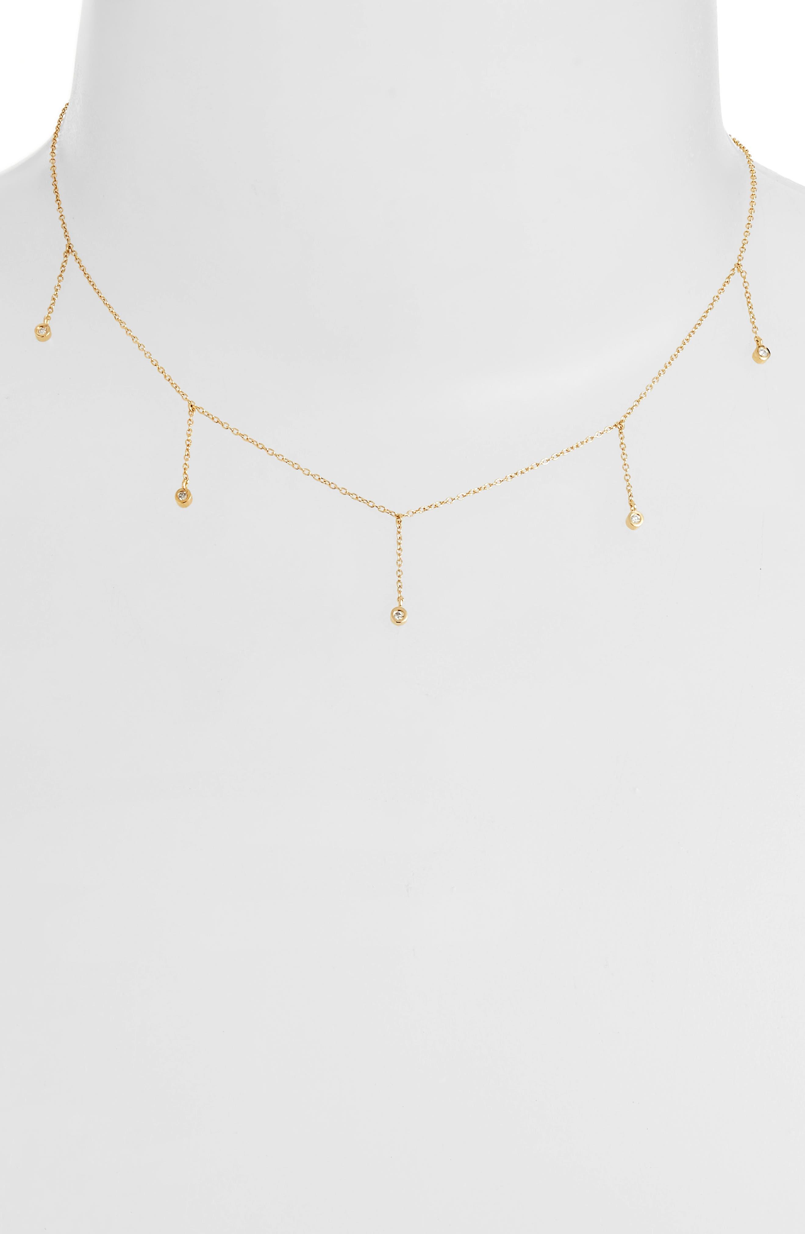 Colette Choker Necklace,                             Main thumbnail 1, color,                             Yellow Vermeil
