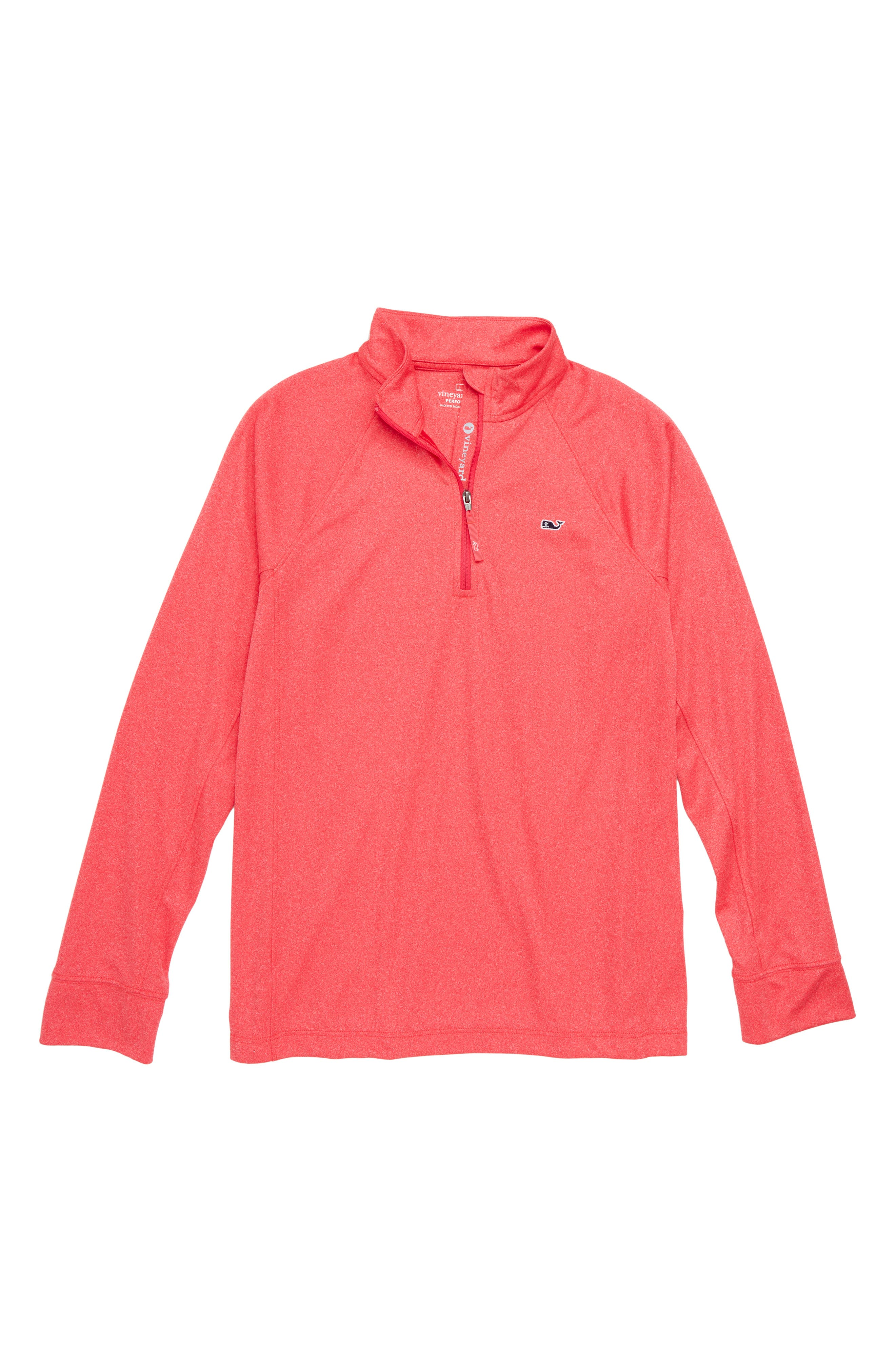 Quarter Zip Pullover,                             Main thumbnail 1, color,                             Lighthouse Red