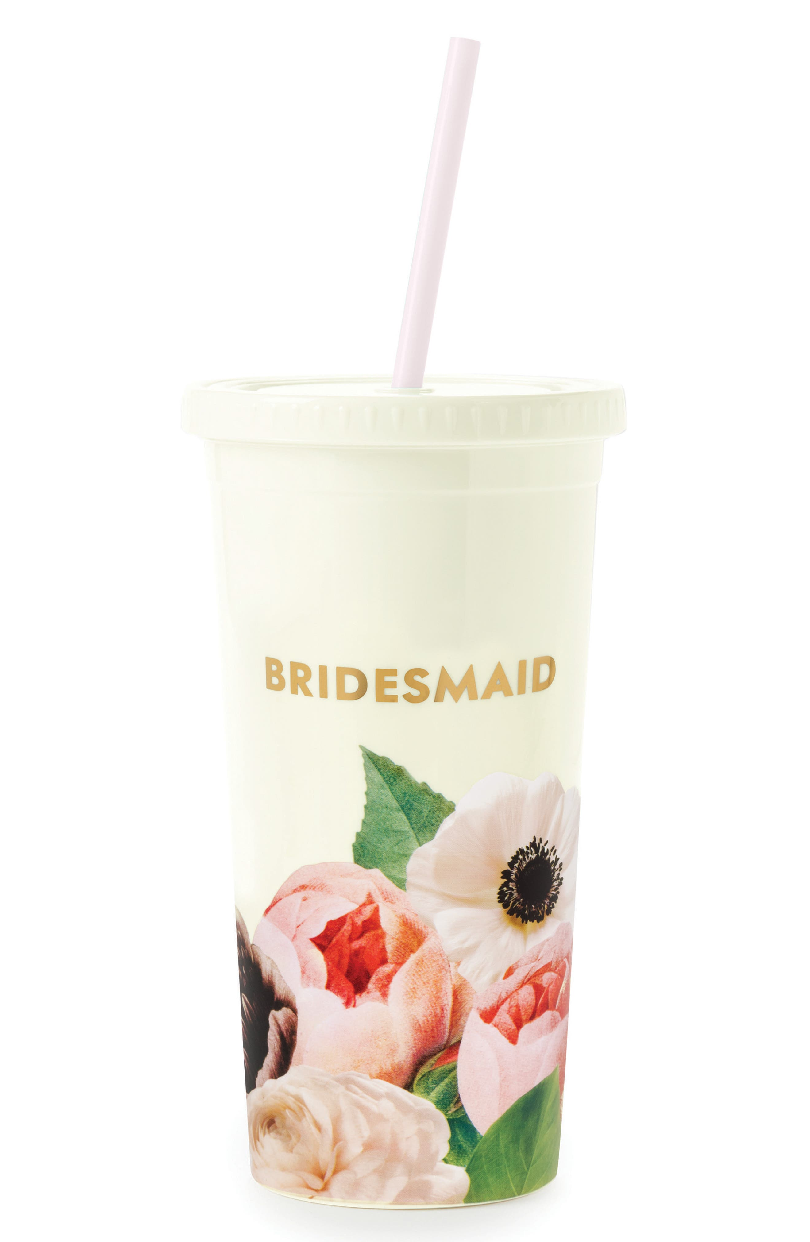 bridesmaid insulated tumbler,                         Main,                         color, Blushing Floral