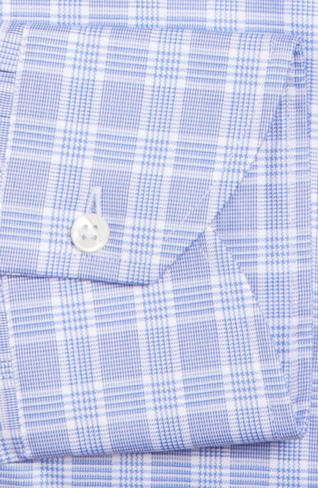 Regular Fit Check Dress Shirt,                             Alternate thumbnail 5, color,                             Brt Blue