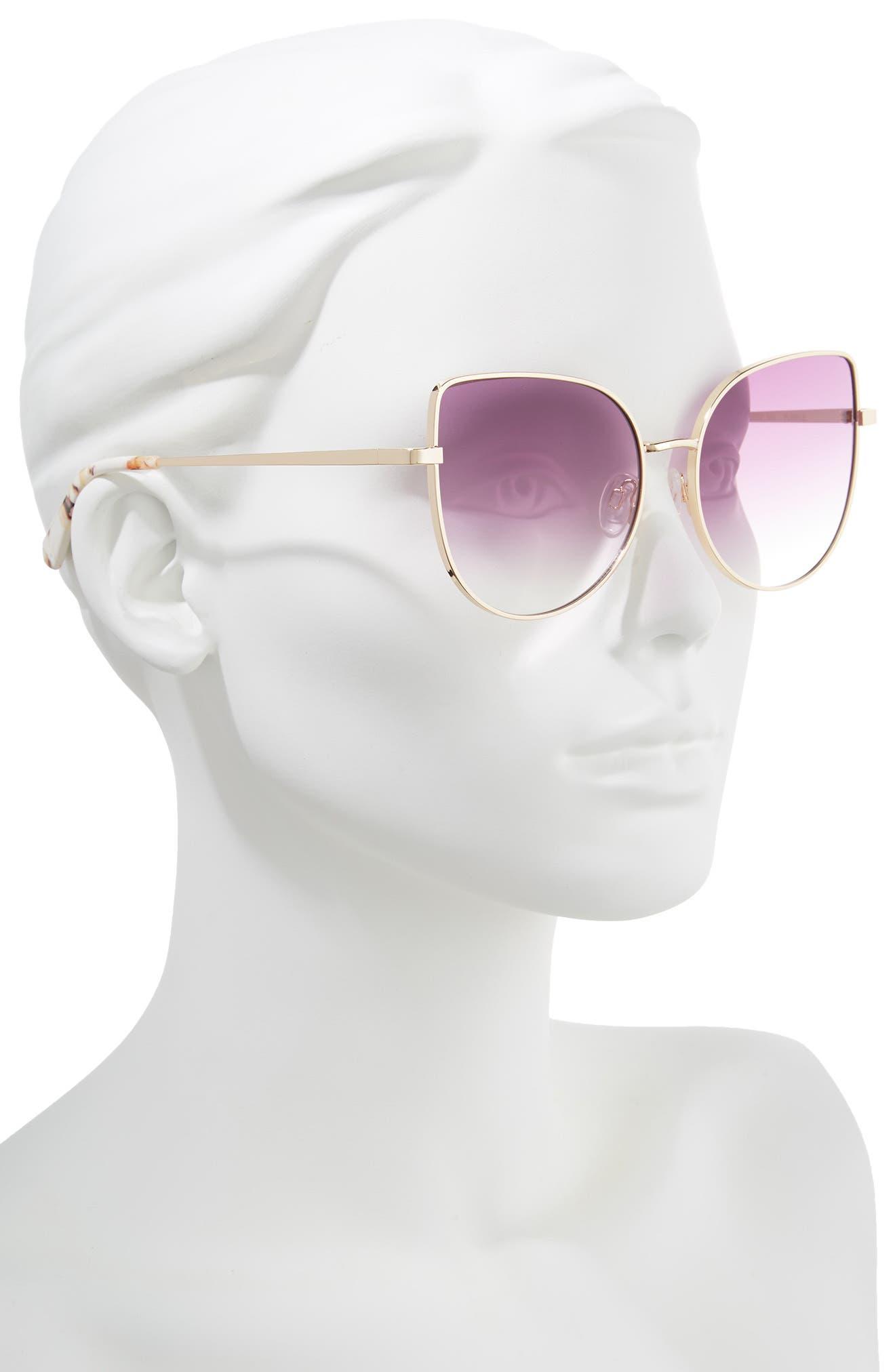 La Bamba 59mm Sunglasses,                             Alternate thumbnail 2, color,                             Purple