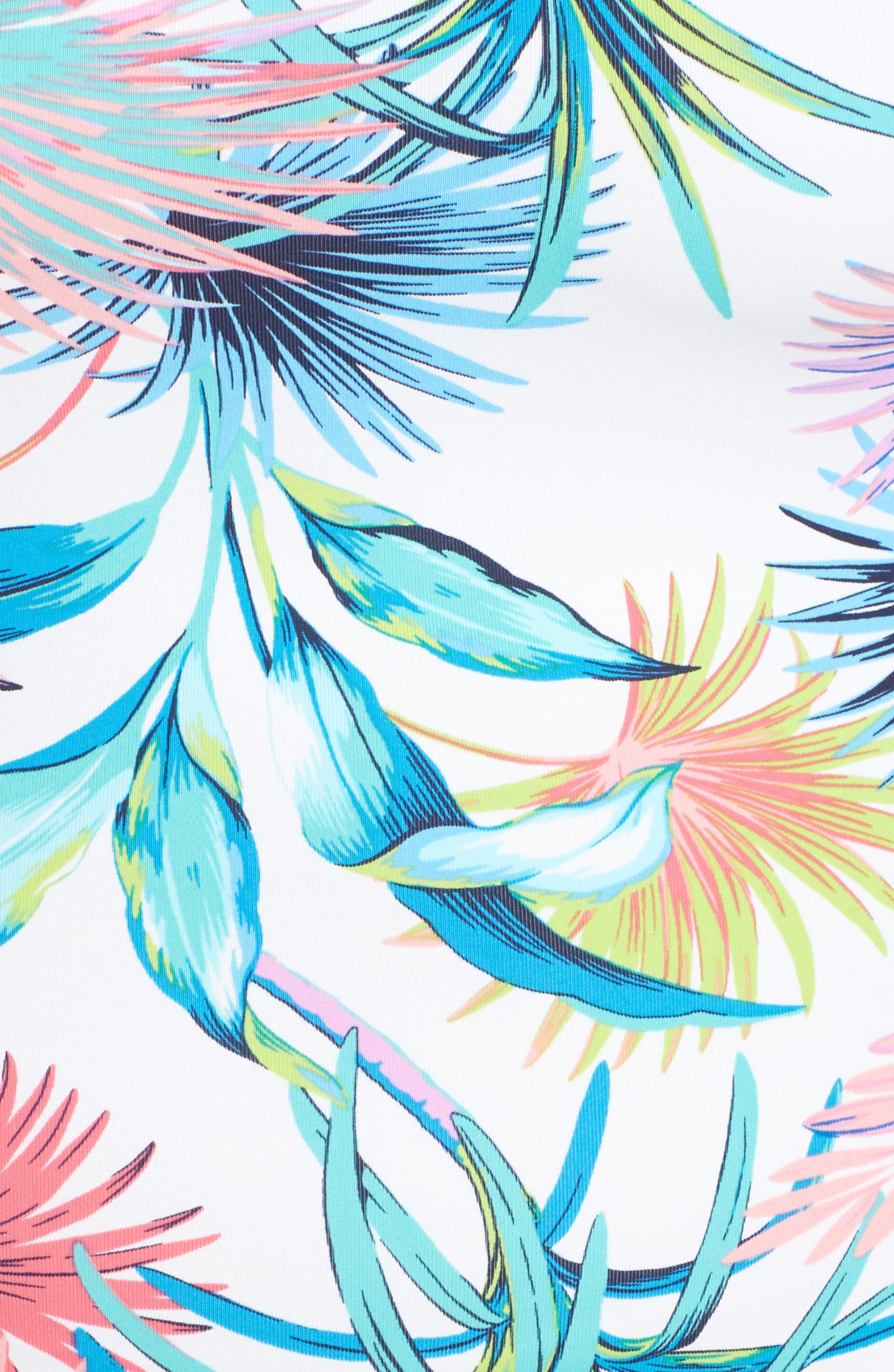 Fronds Ferdinand Reversible One-Piece Swimsuit,                             Alternate thumbnail 4, color,                             White