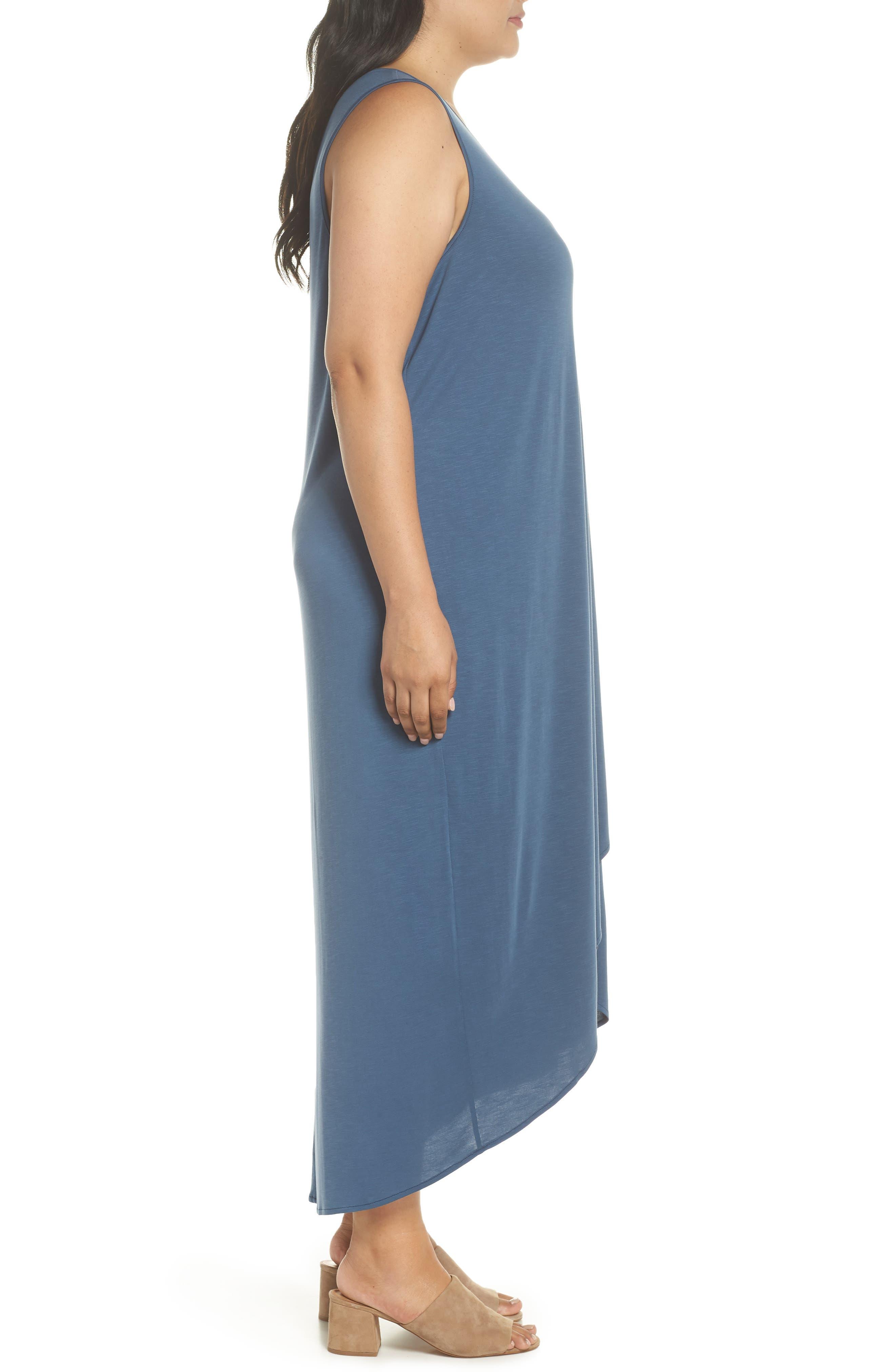 Boardwalk Jersey High/Low Dress,                             Alternate thumbnail 3, color,                             Washed Rich Indigo